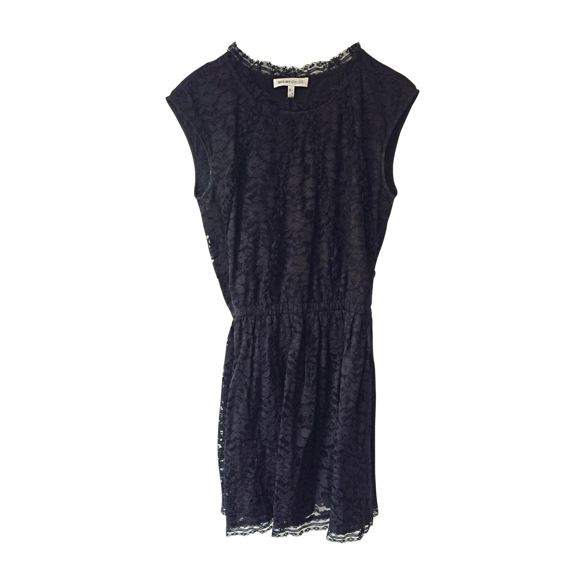 Robe courte SEE BY CHLOE Bleu, bleu marine, bleu turquoise