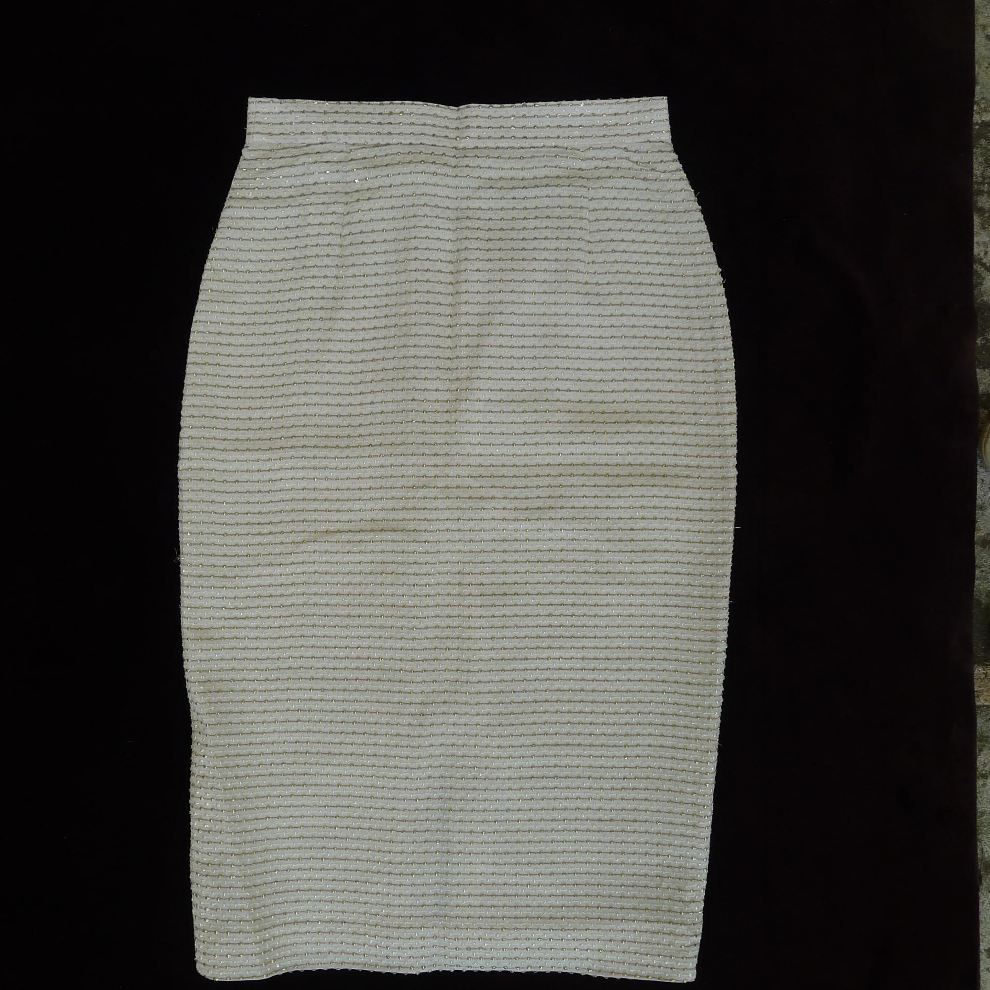 Jupe mi-longue LOUIS FÉRAUD Blanc, blanc cassé, écru
