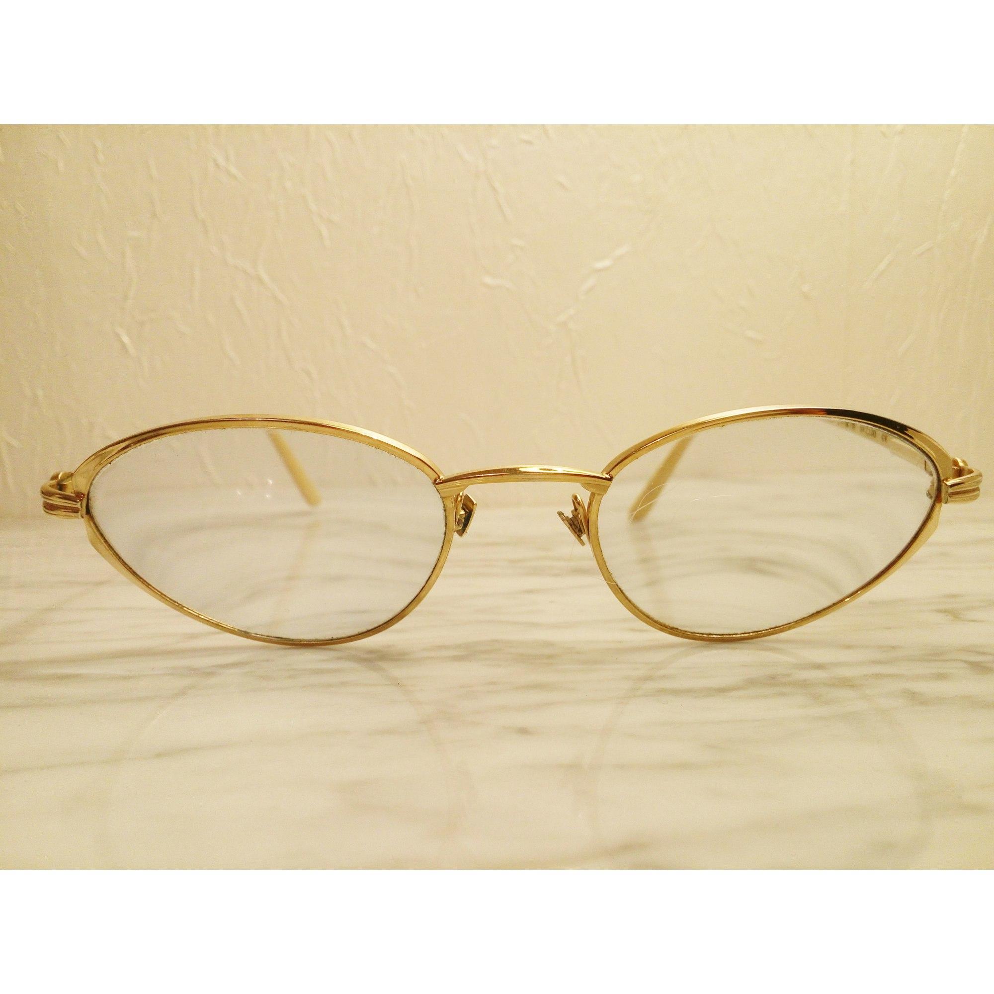 Monture de lunettes JEAN PATOU Doré, bronze, cuivre