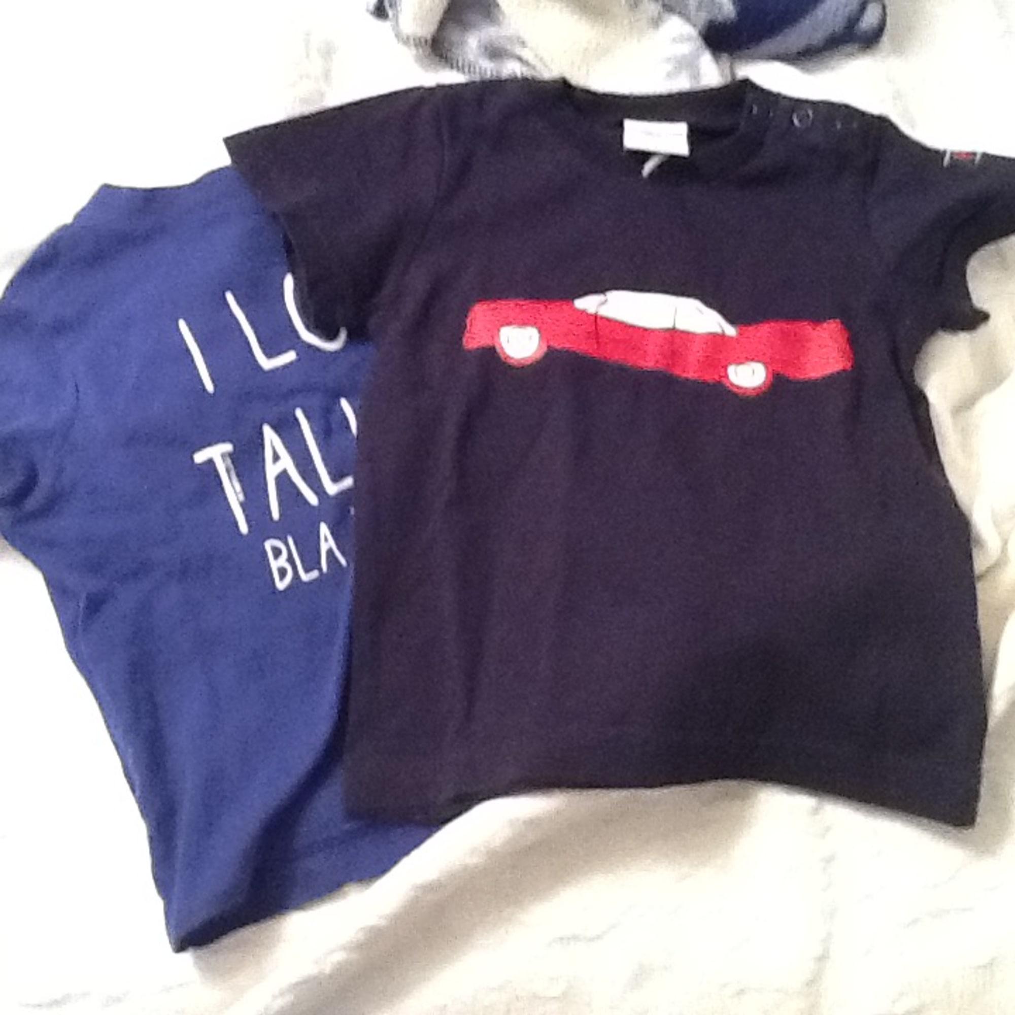 Top, tee shirt POLARN O. PYRET Bleu, bleu marine, bleu turquoise