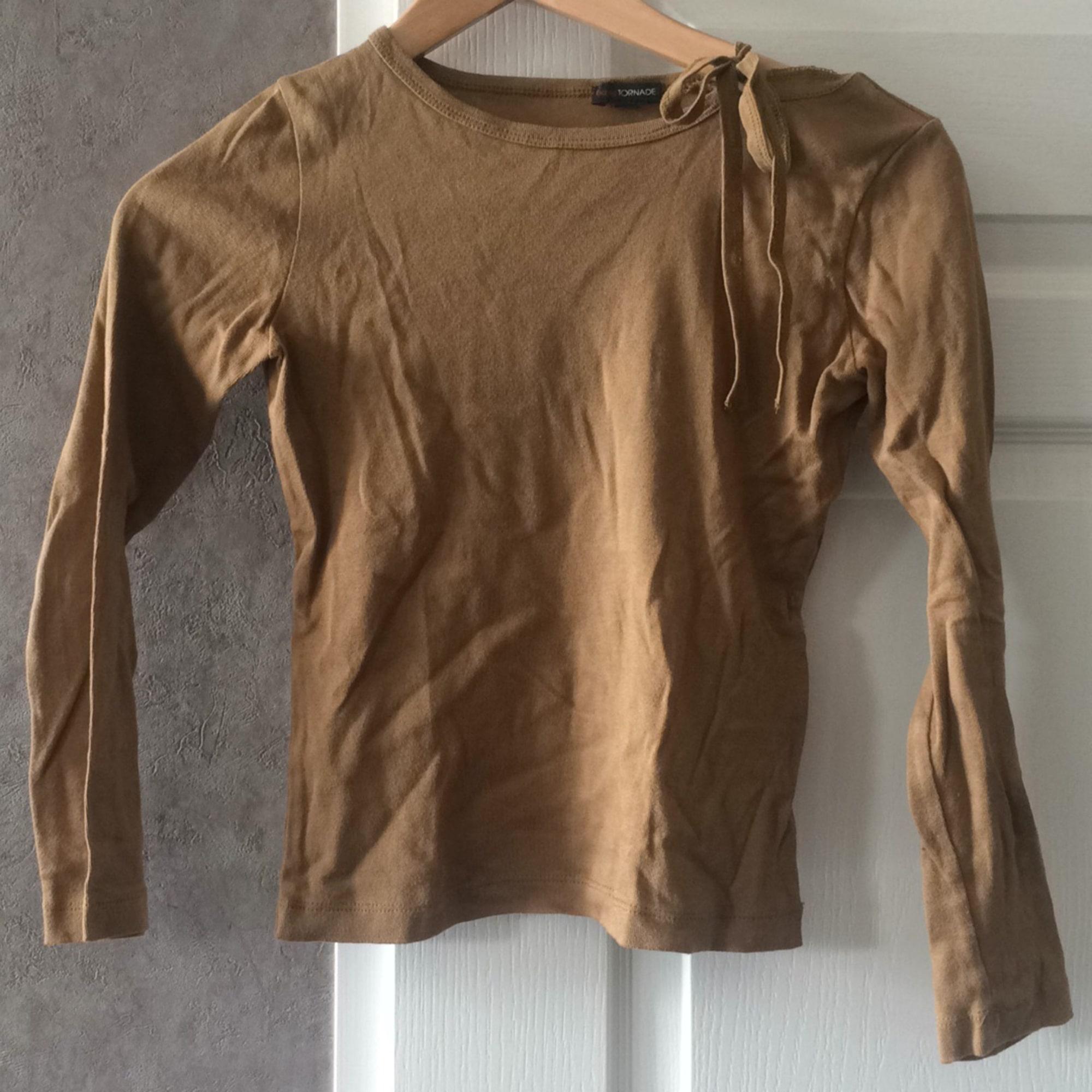 Top, Tee-shirt BILLTORNADE Beige, camel