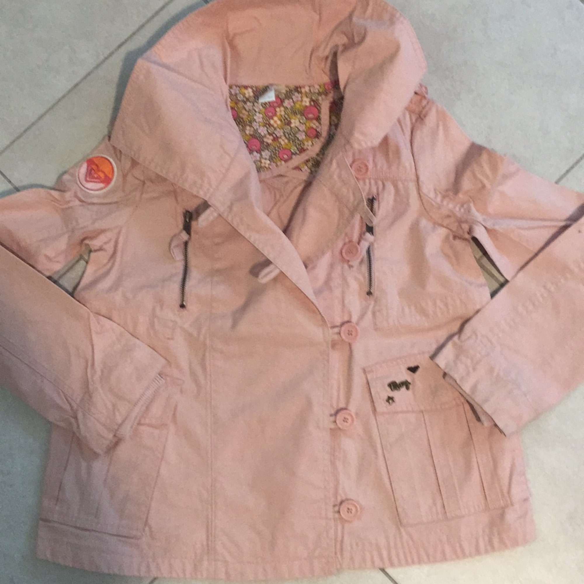 Imperméable, trench ROXY Rose, fuschia, vieux rose
