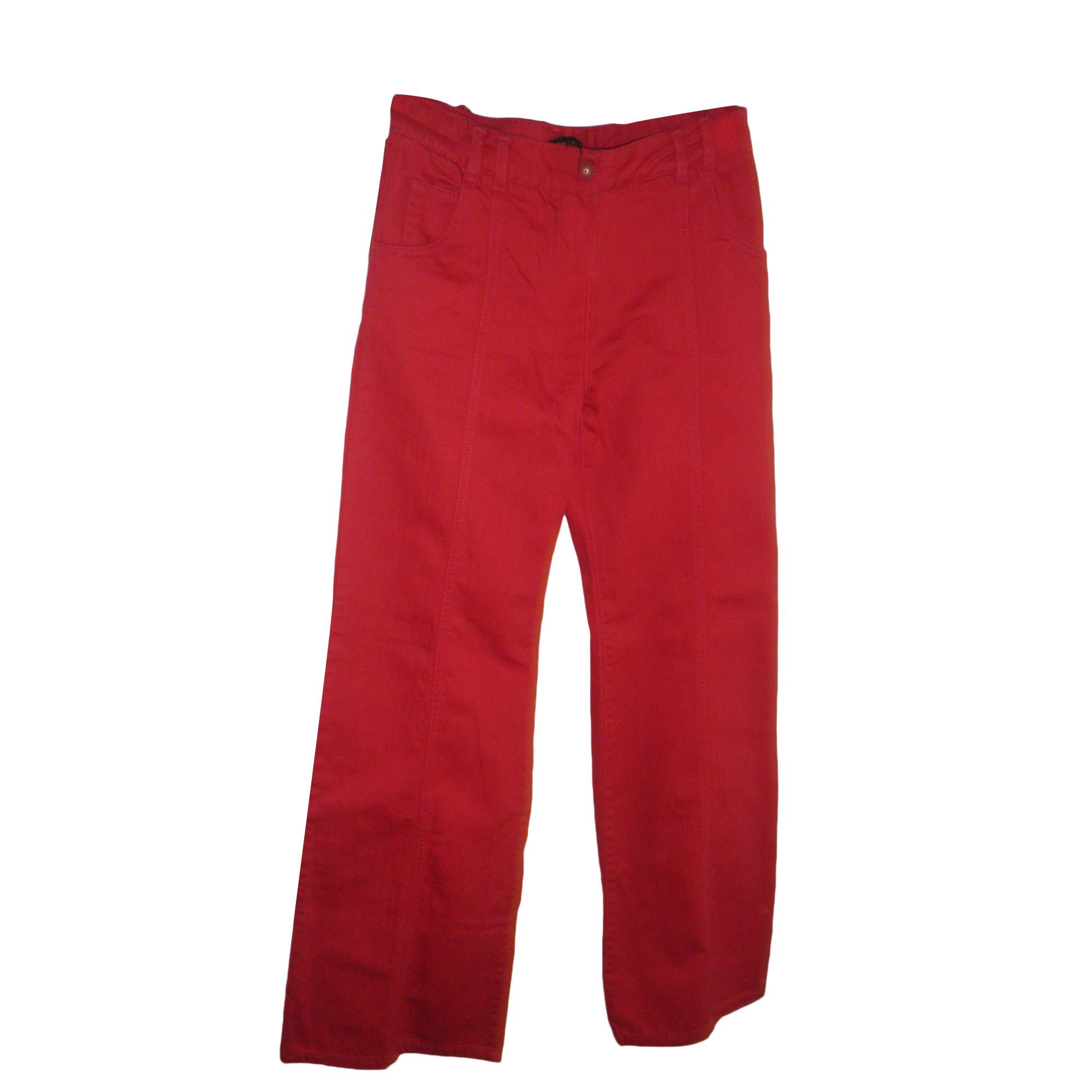 Jeans très evasé, patte d'éléphant TARA JARMON Rose, fuschia, vieux rose