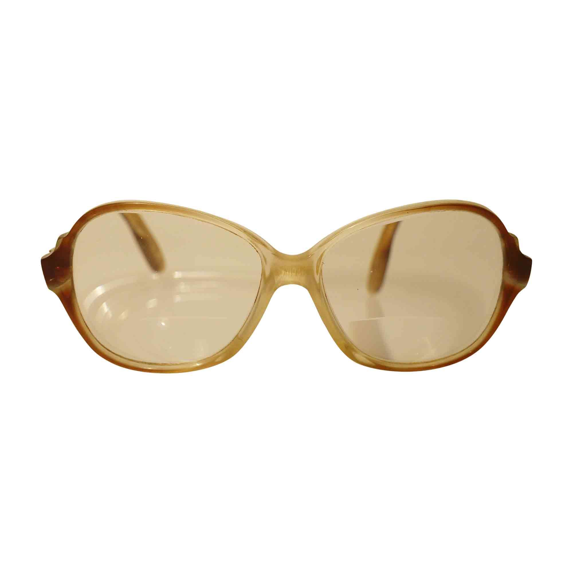 Monture de lunettes YVES SAINT LAURENT Transparent, marron, doré