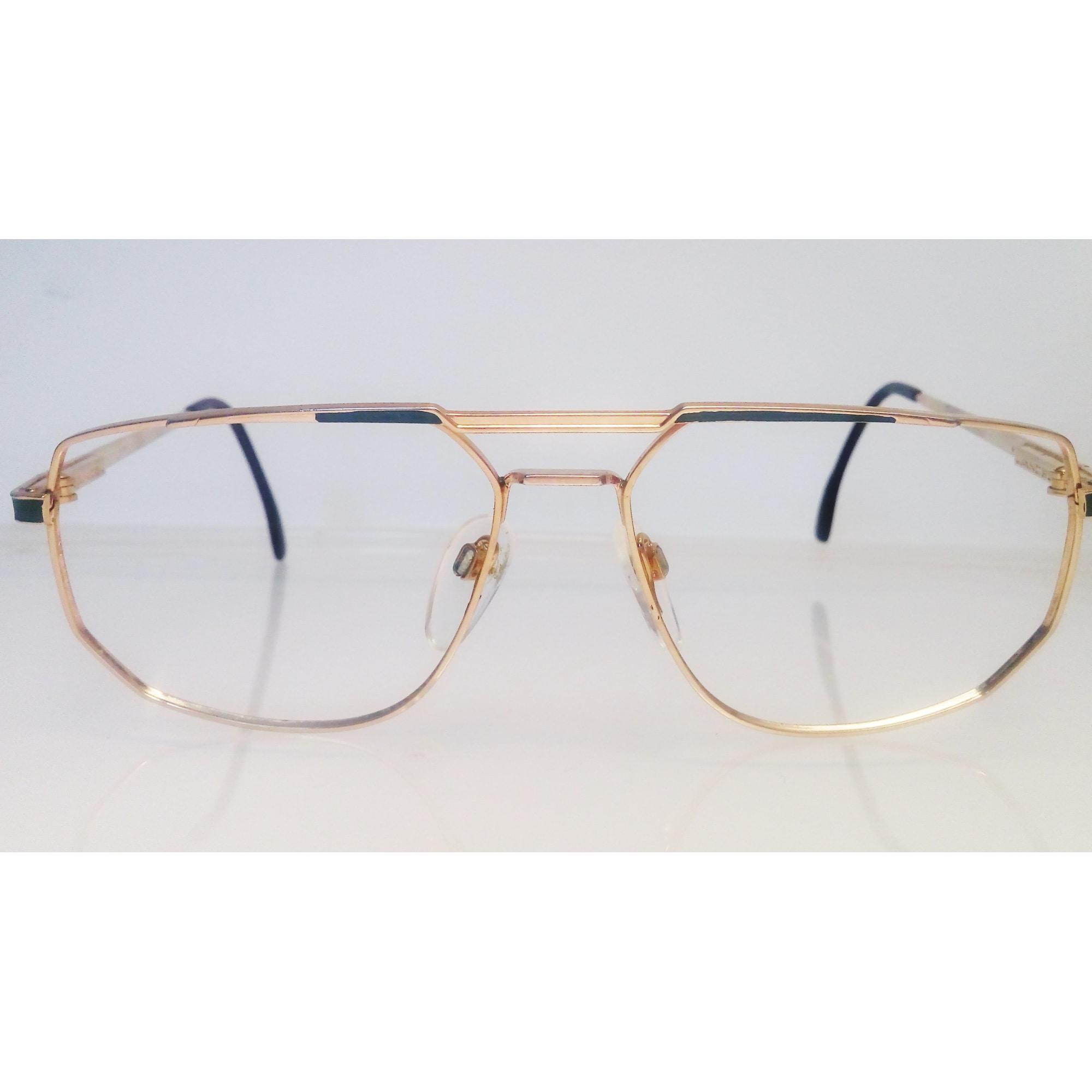 Eyeglass Frames LANCEL Doré et vert