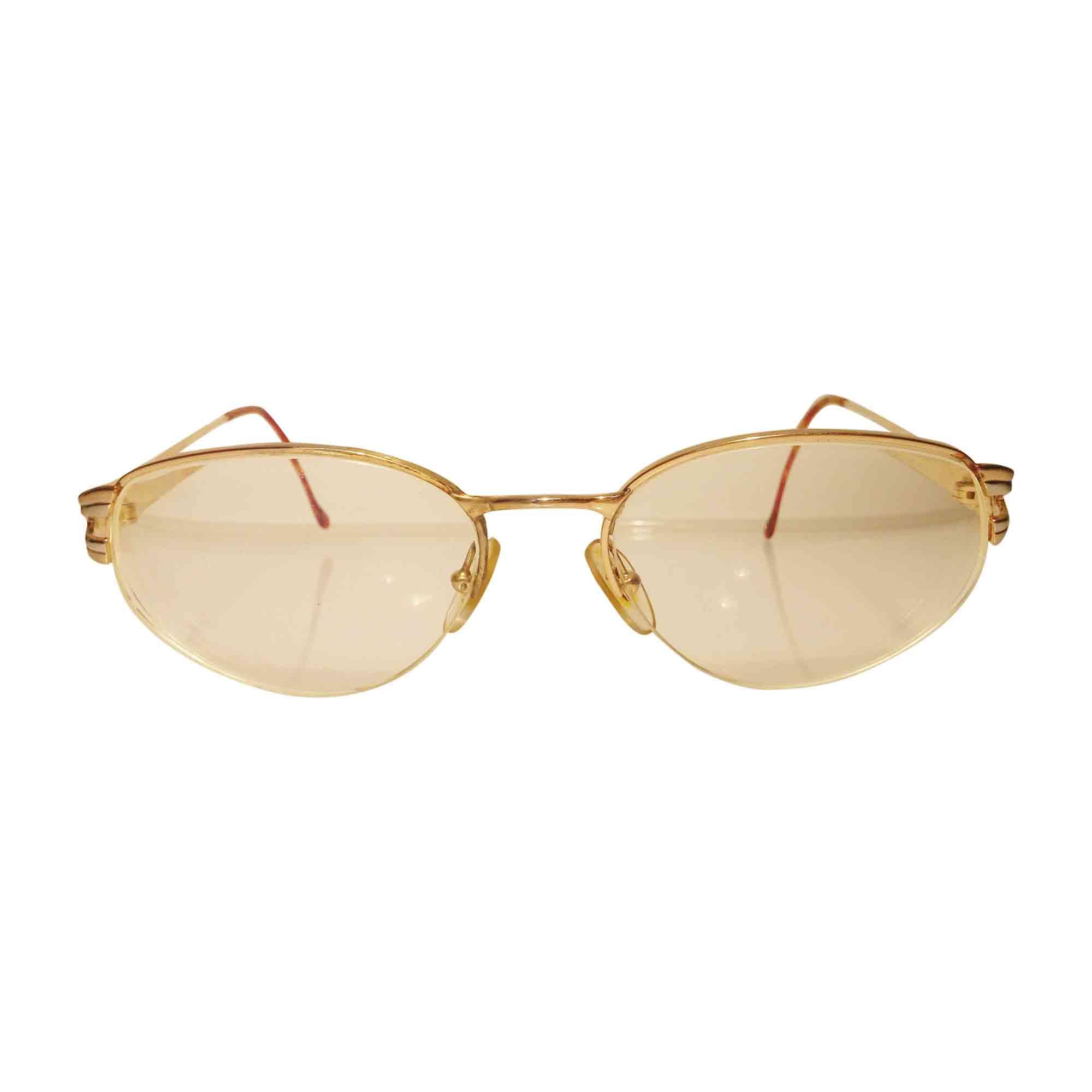 Monture de lunettes LANVIN Doré, bronze, cuivre