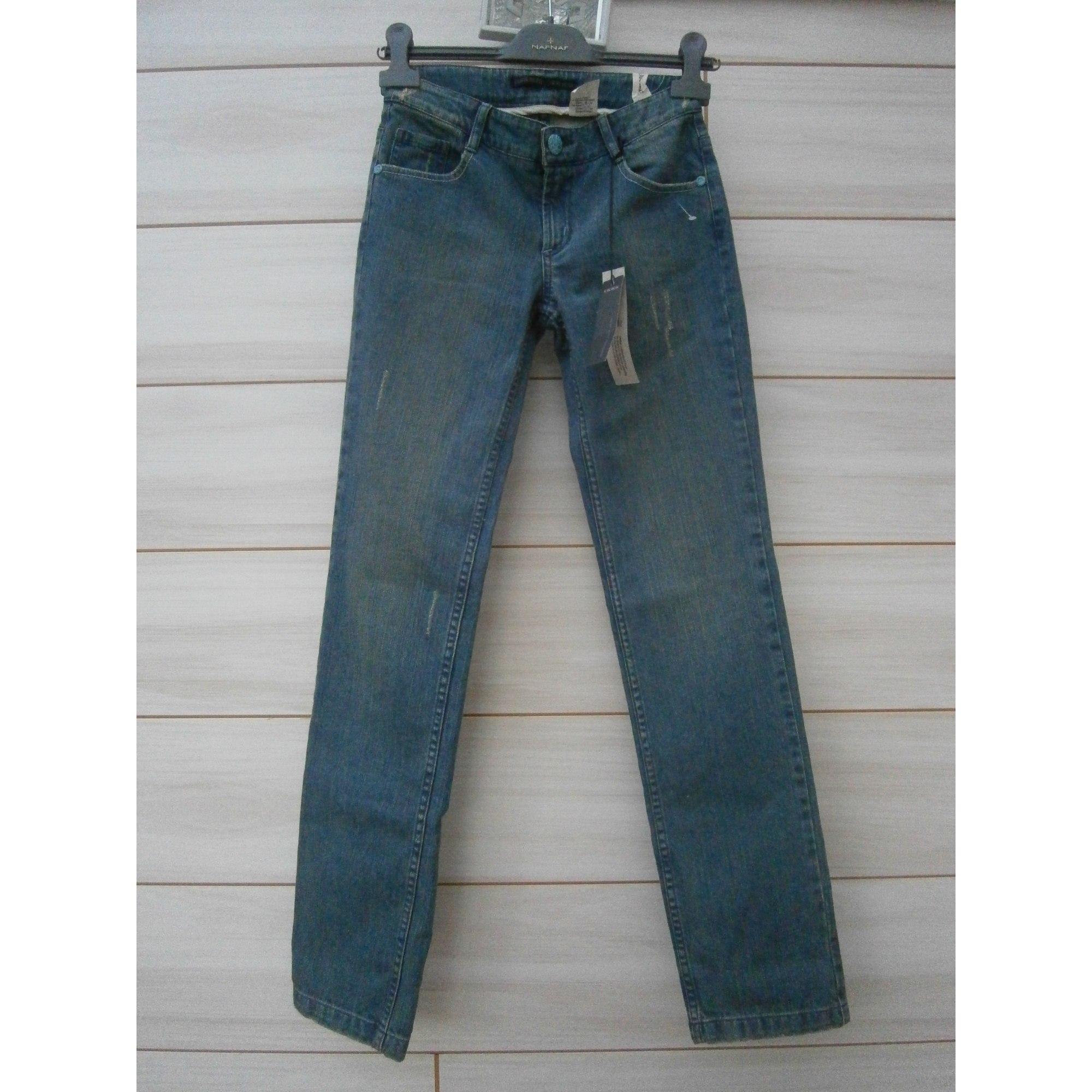 Jeans droit IKKS Bleu, bleu marine, bleu turquoise