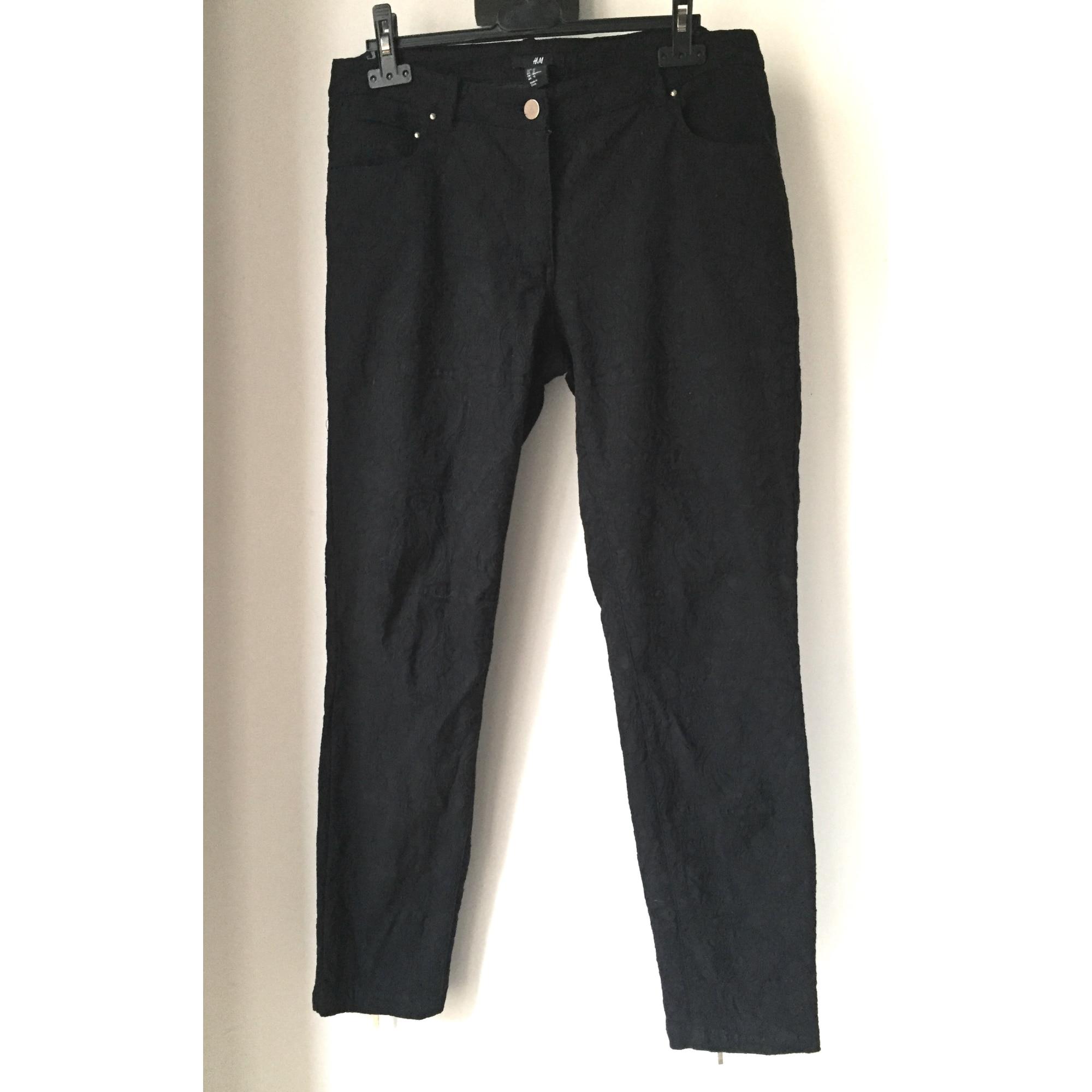 Pantalon slim, cigarette H&M Noir