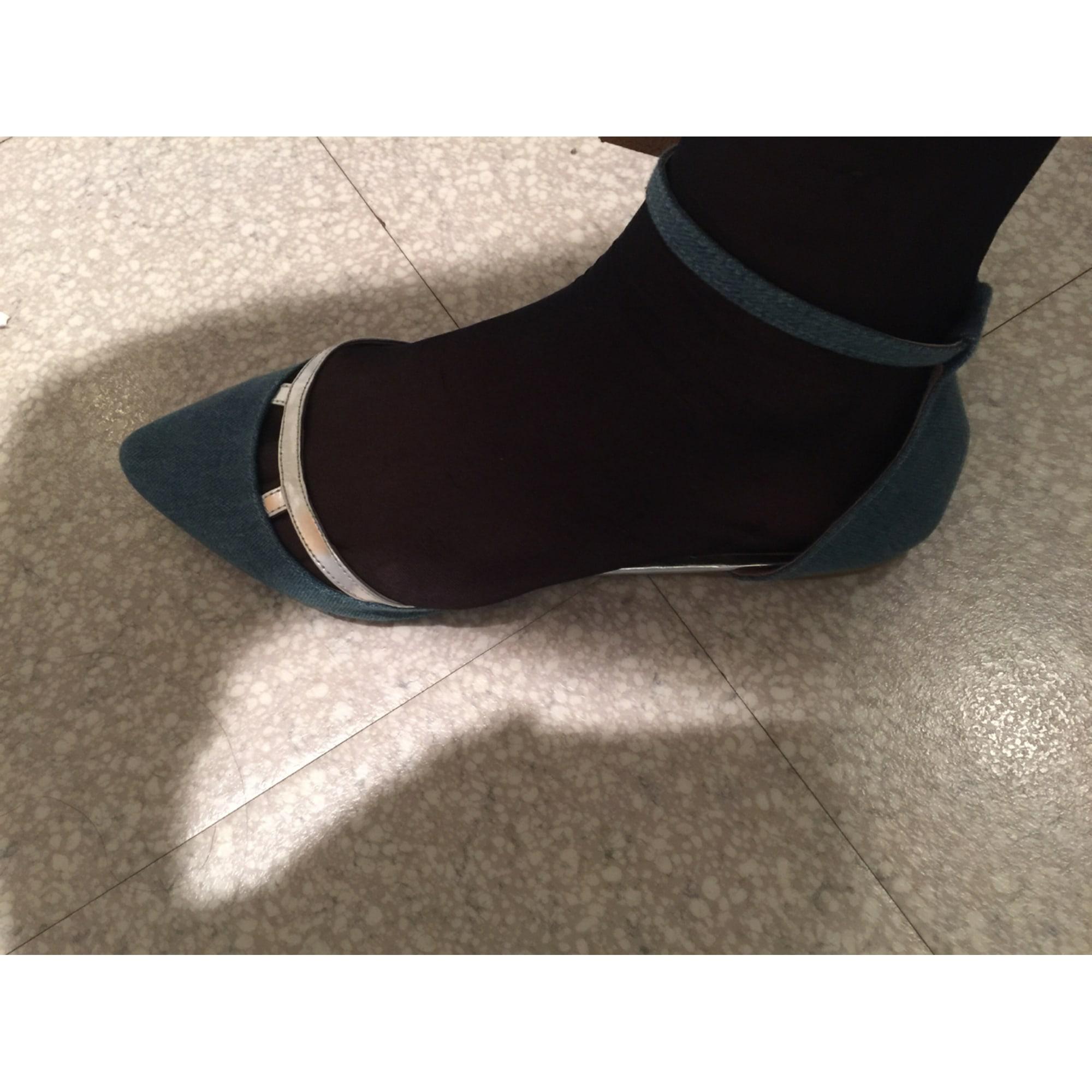 Sandales plates  NAF NAF Bleu, bleu marine, bleu turquoise