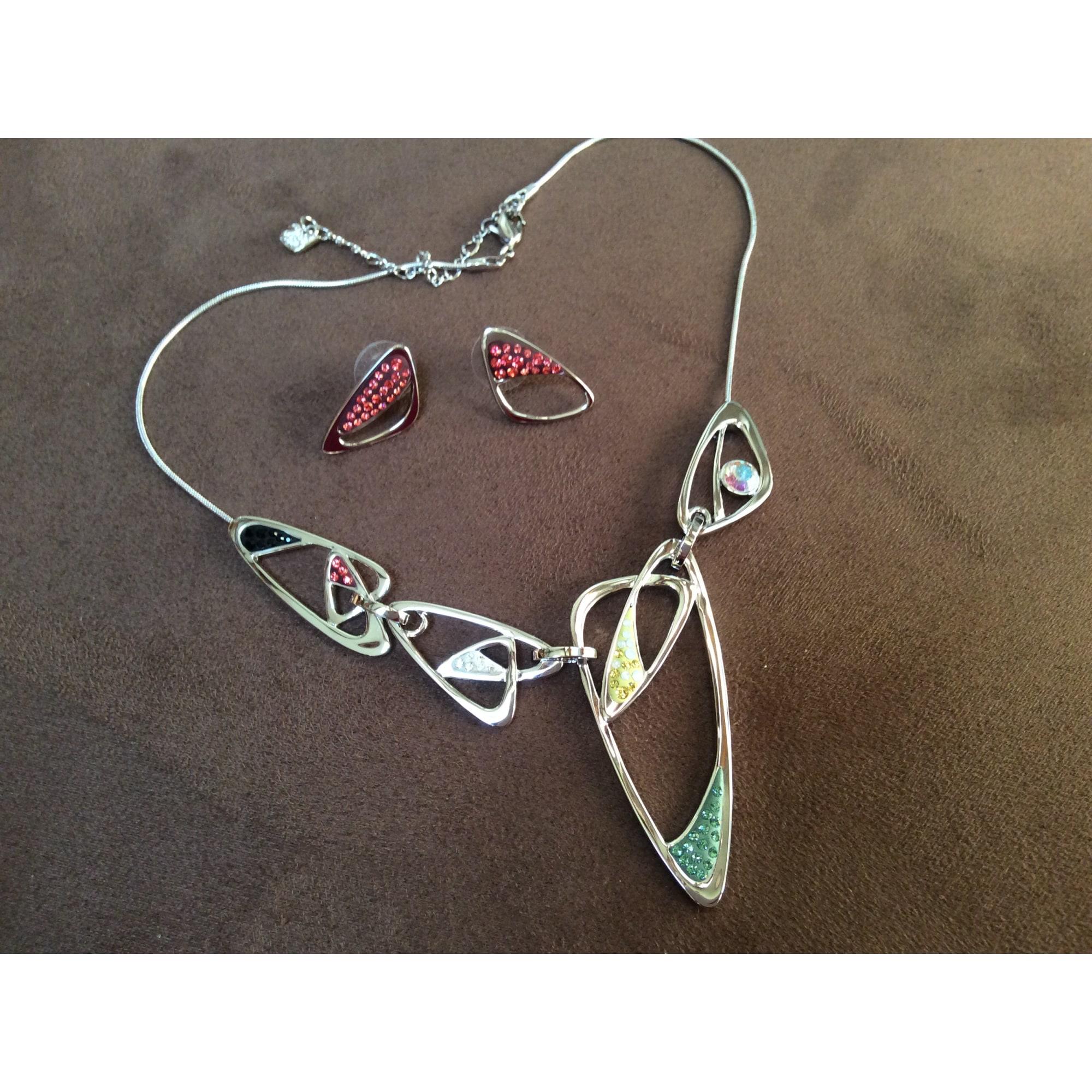 Parure bijoux SWAROVSKI Argenté, acier