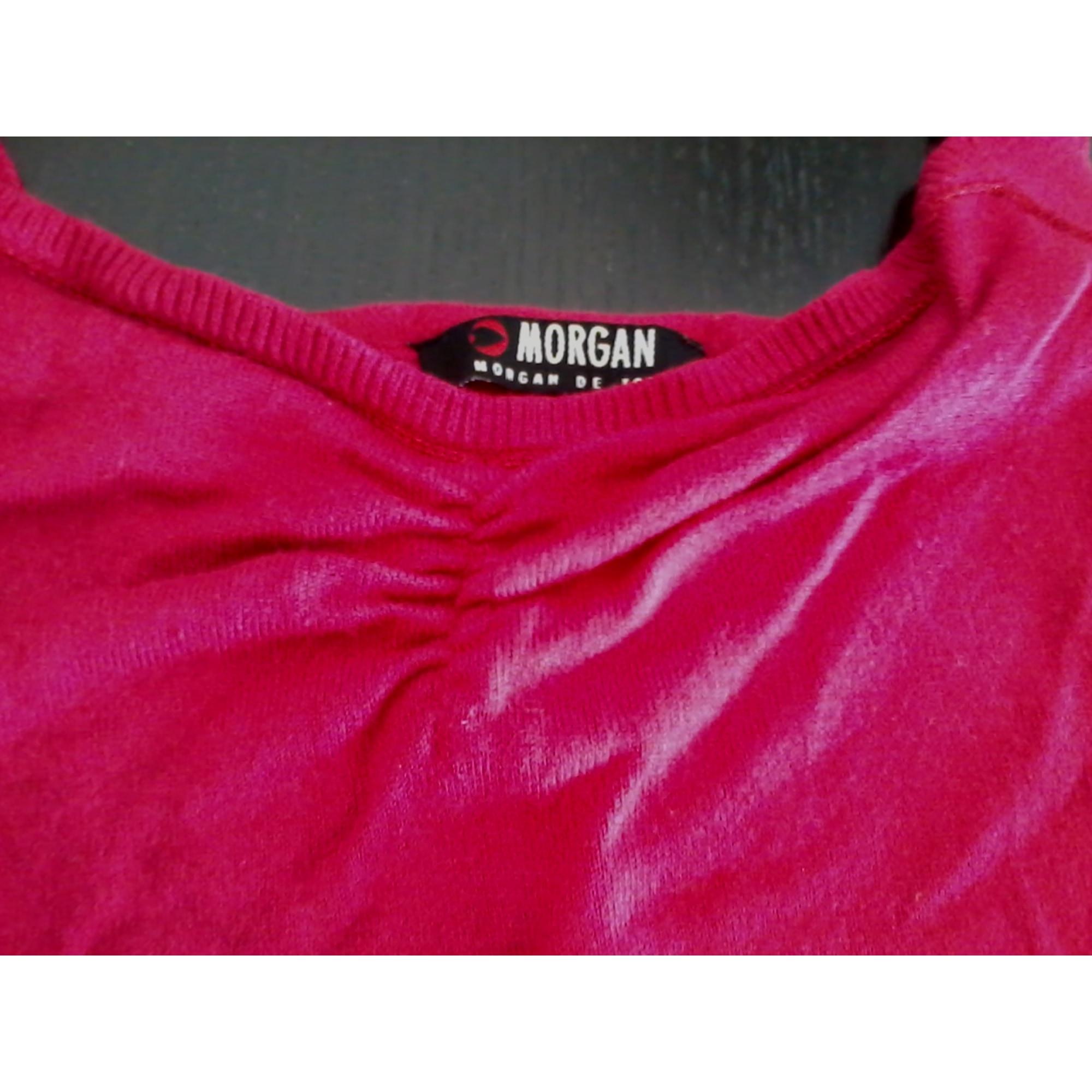 Top, tee-shirt MORGAN Rose, fuschia, vieux rose