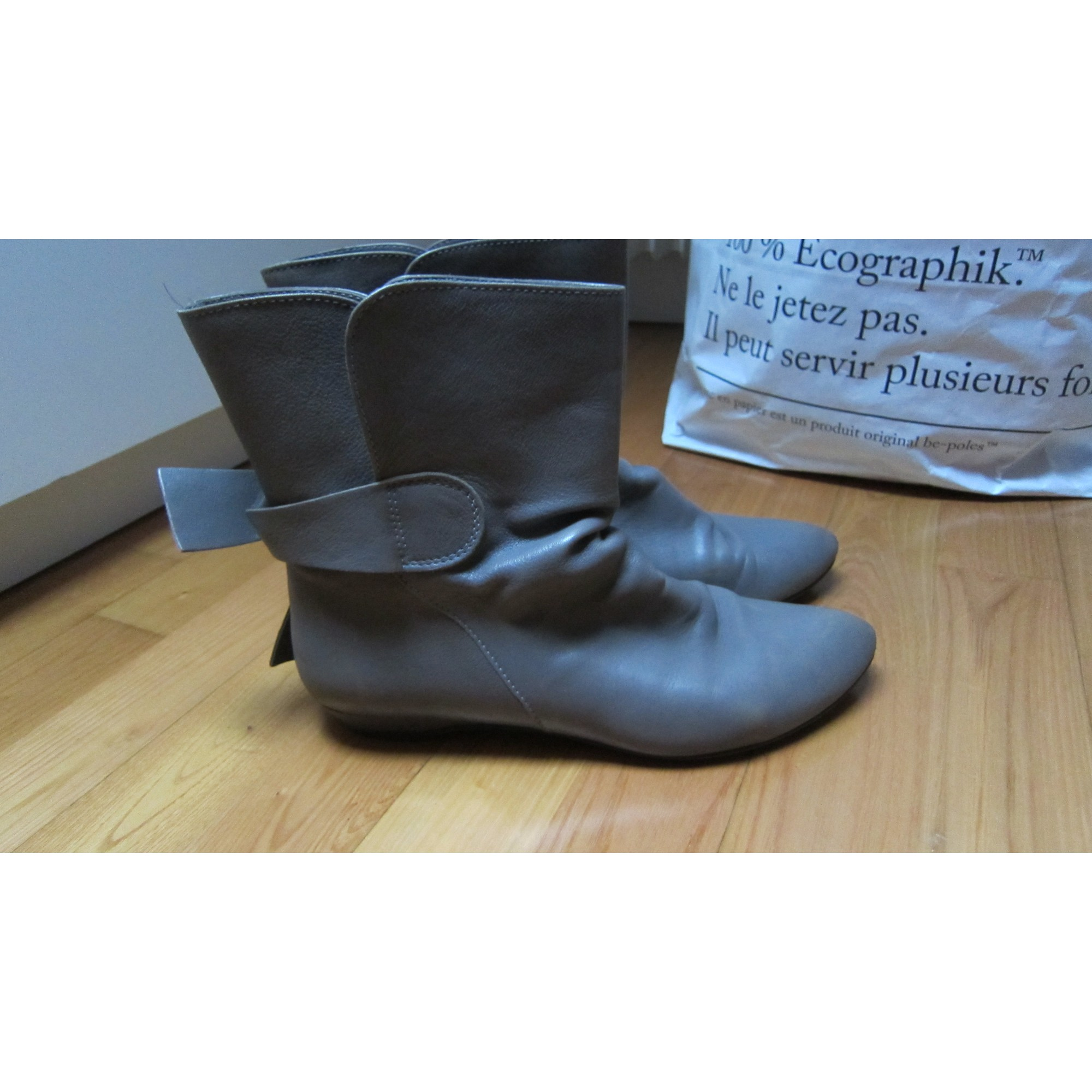 Bottines & low boots plates MINELLI Gris, anthracite
