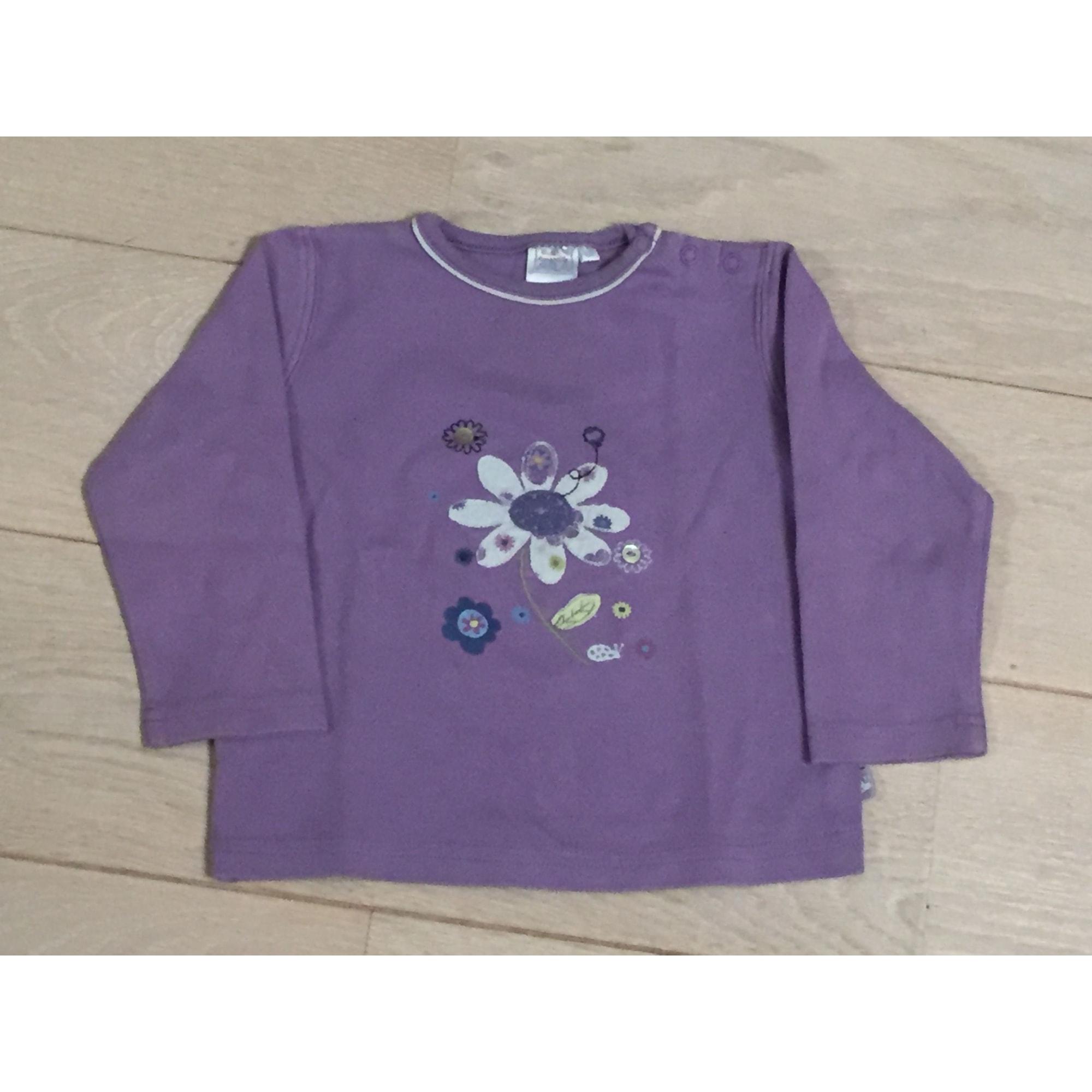 Top, tee shirt CADET ROUSSELLE Violet, mauve, lavande