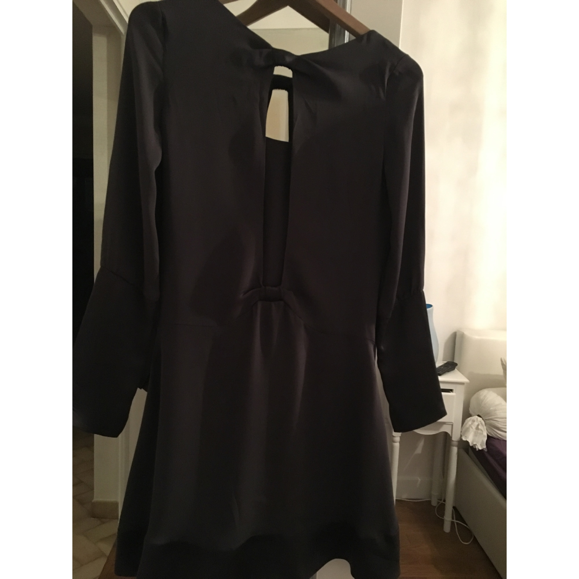 Robe courte BERENICE Marron