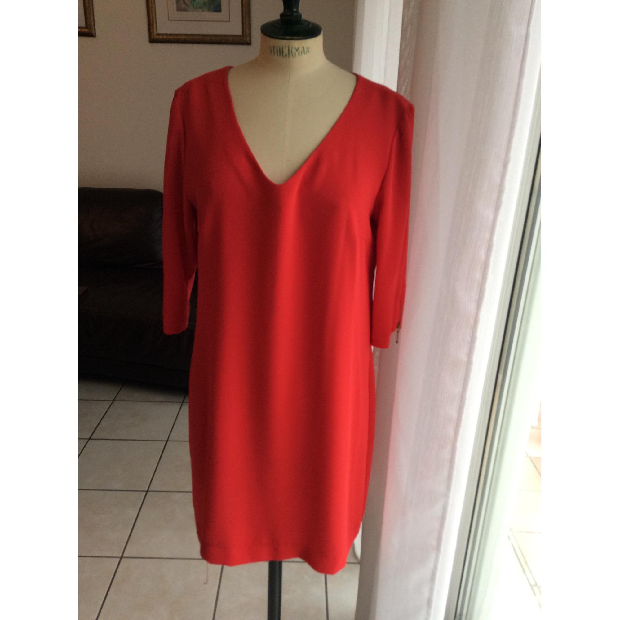 Robe mi-longue OPULLENCE Rouge, bordeaux
