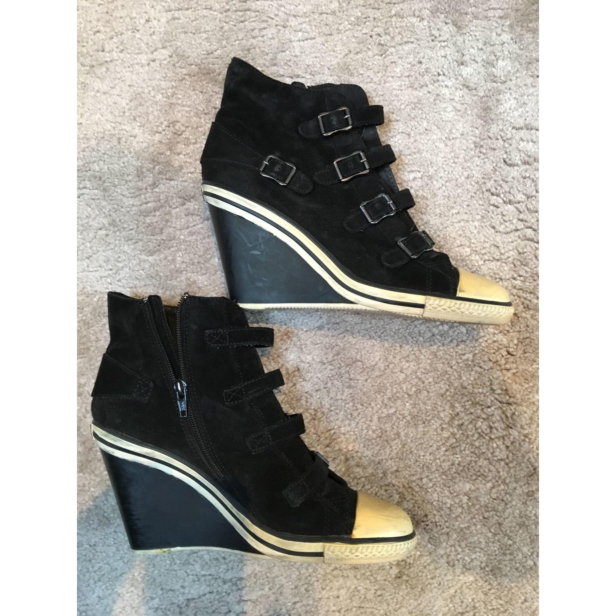 Bottines & low boots à compensés ASH Noir
