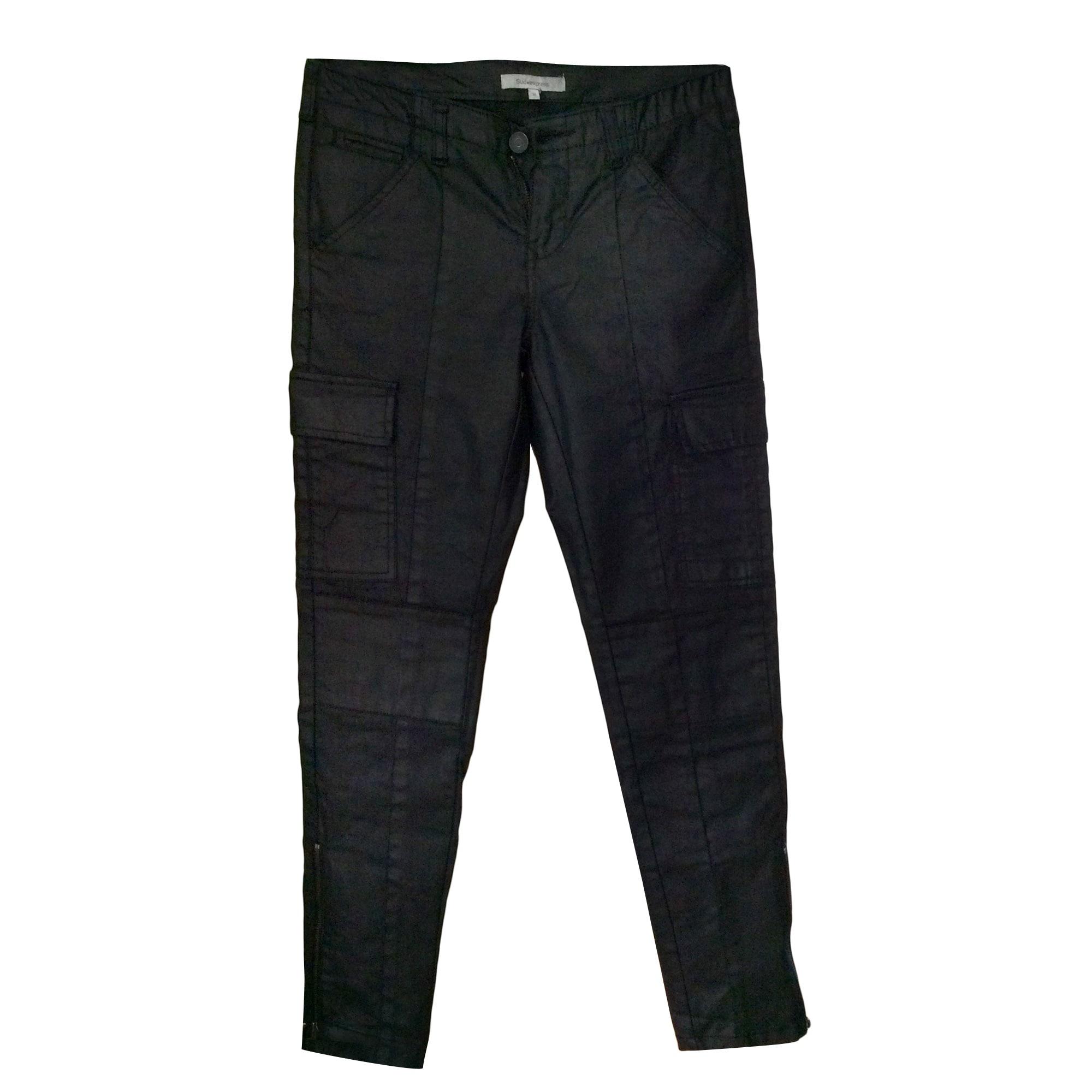 Pantalon slim, cigarette COMPTOIR DES COTONNIERS Noir