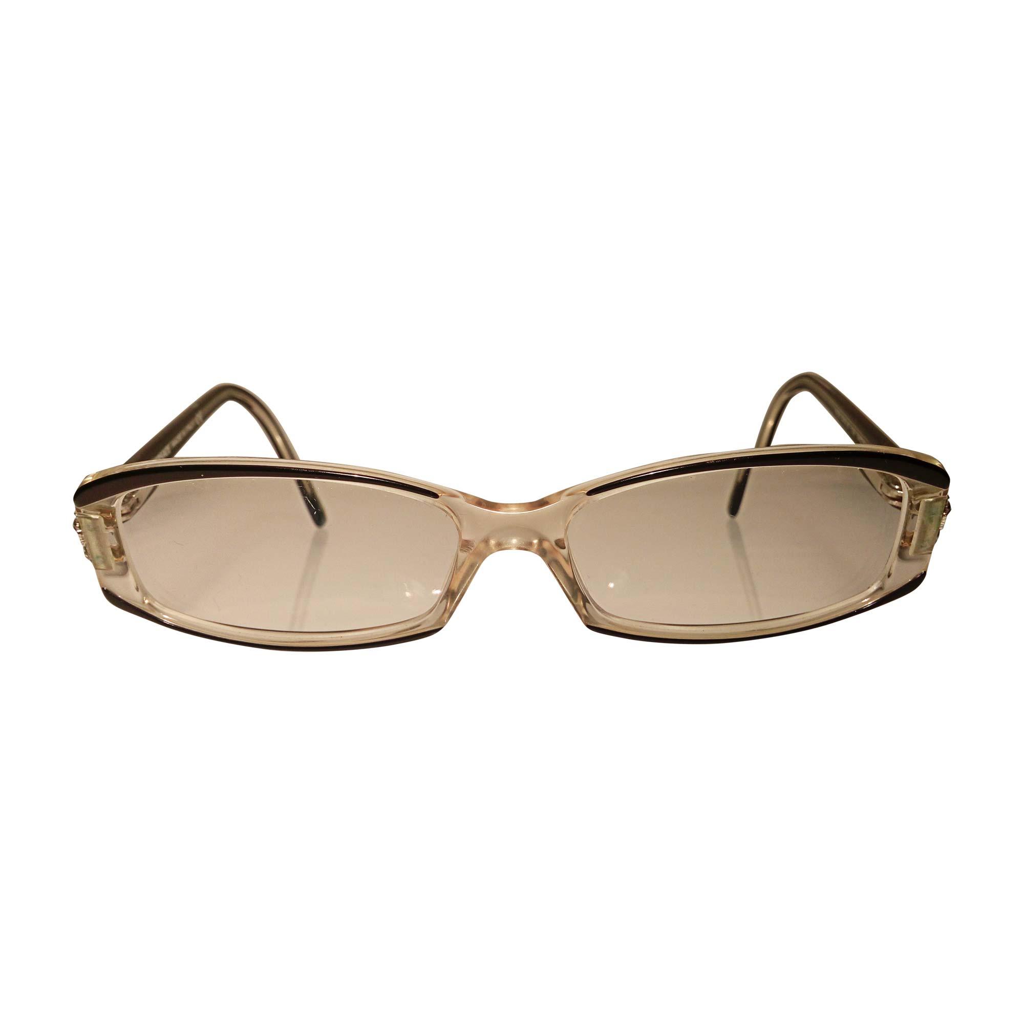 Monture de lunettes VERSACE noir et transparent