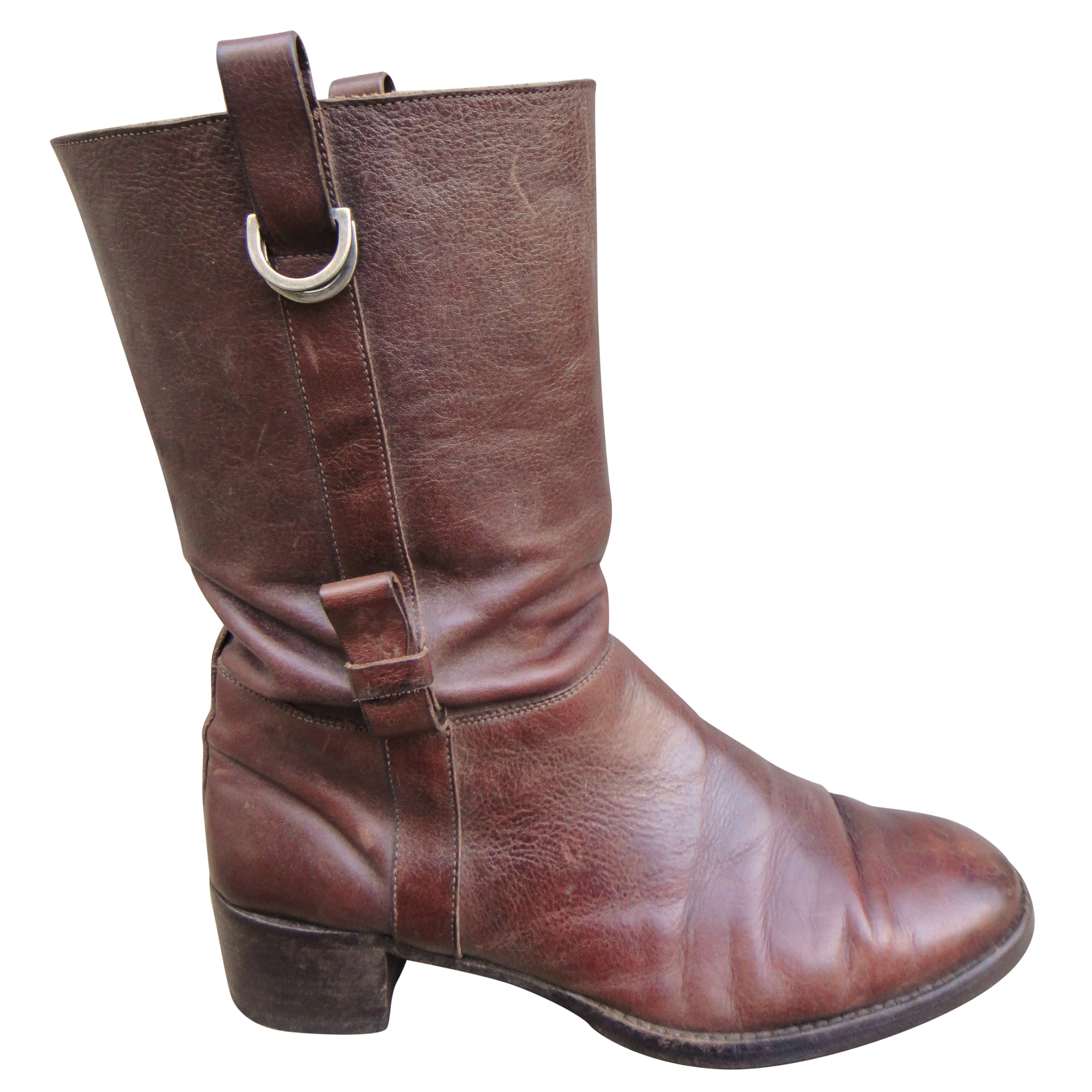 Flat Ankle Boots HESCHUNG Brown