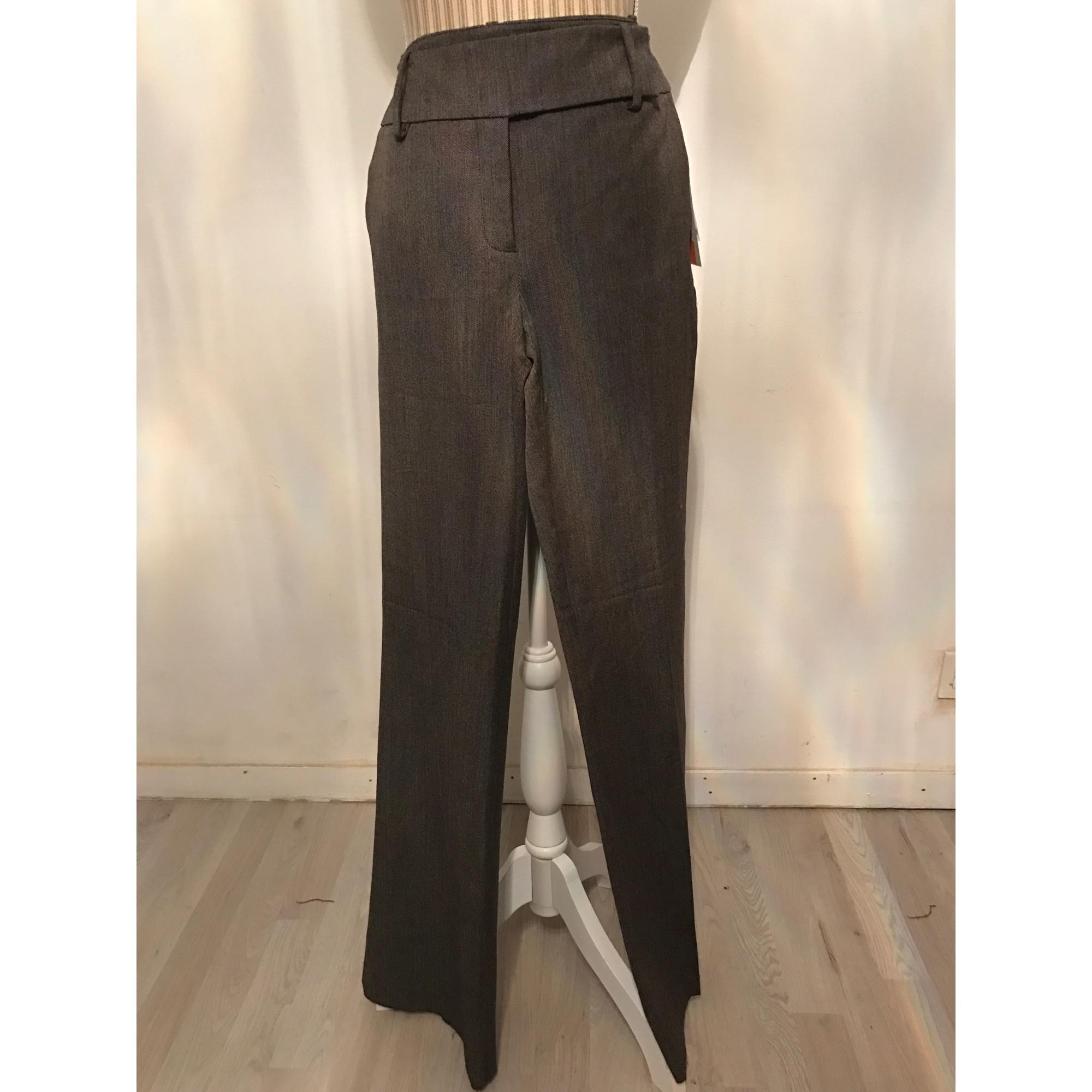 Pantalon large ZARA Gris, anthracite