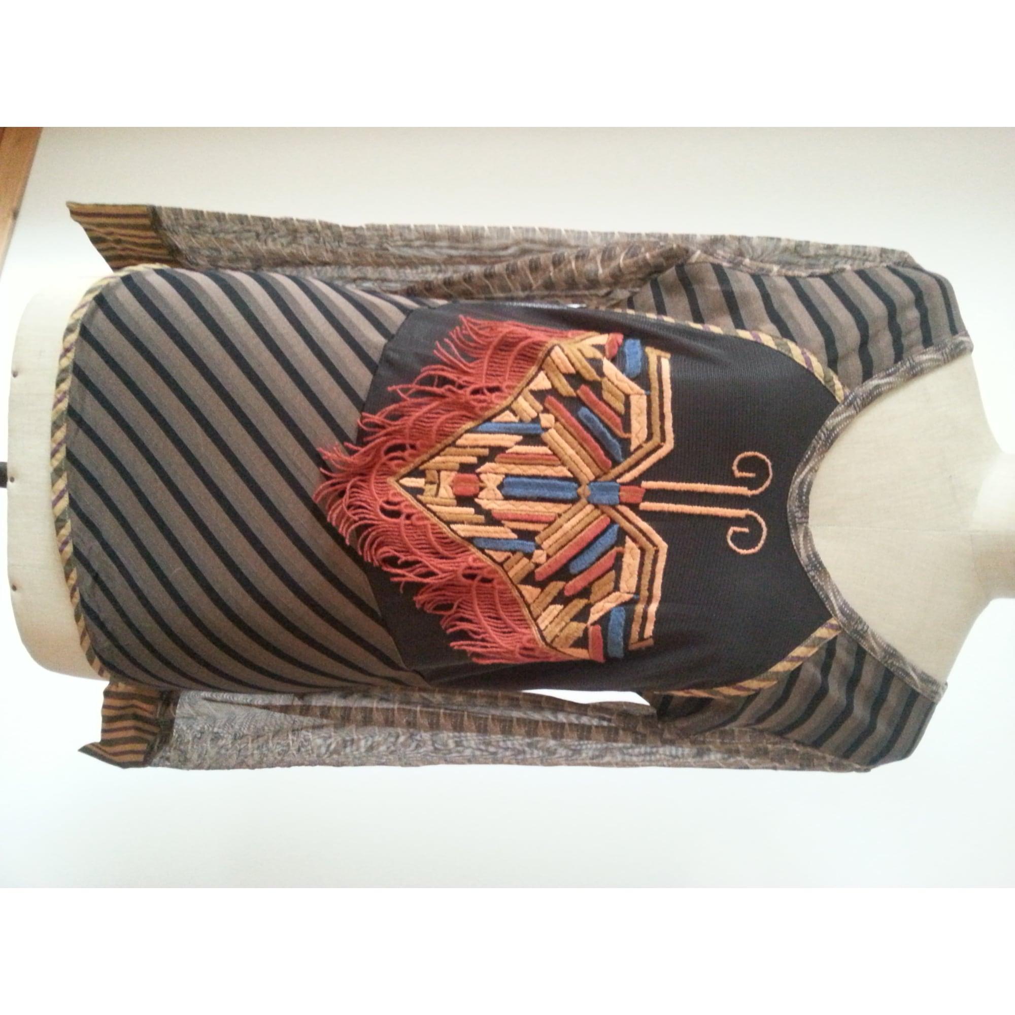 Top, tee-shirt SAVE THE QUEEN Doré, bronze, cuivre