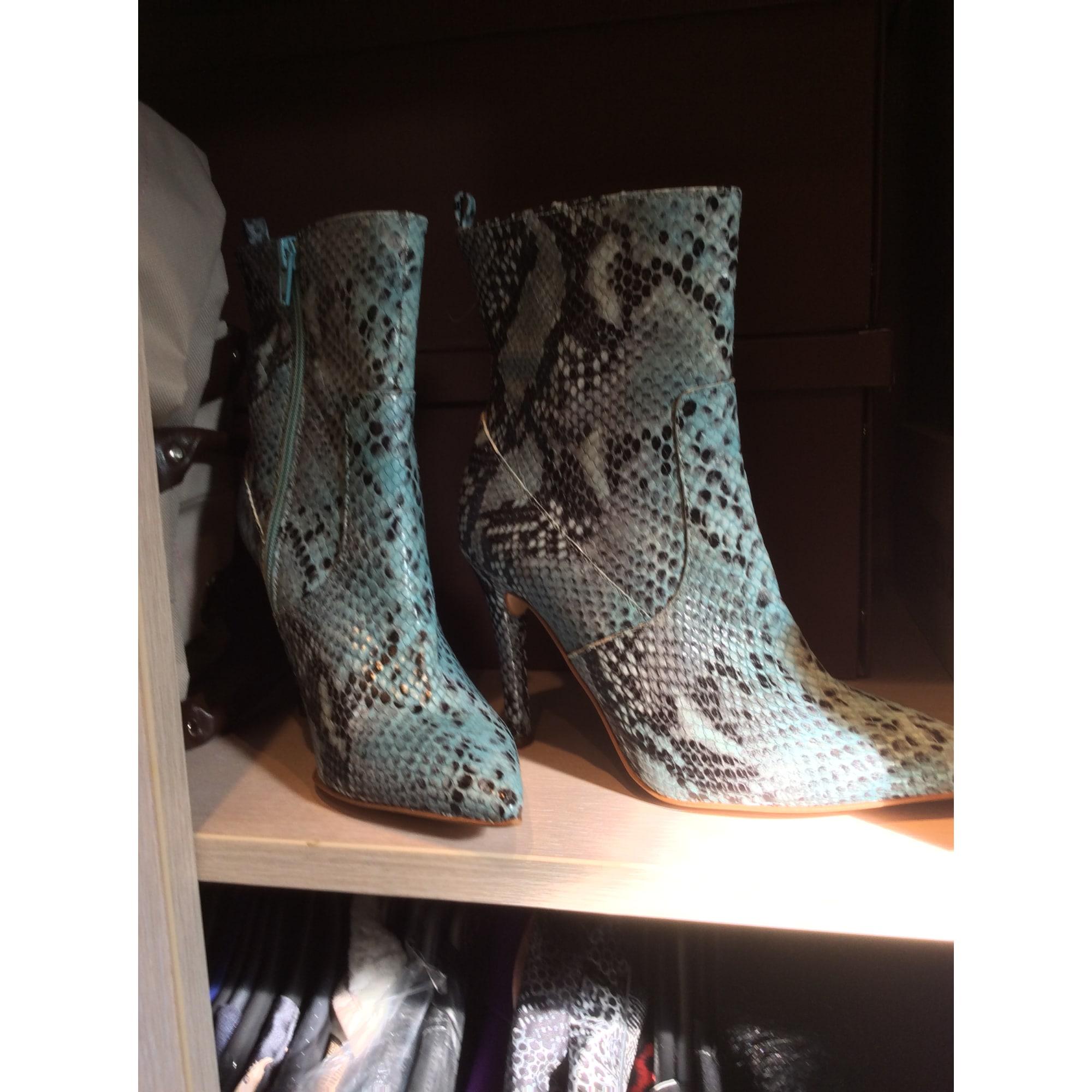 Bottines & low boots à talons MAI PIU SENZA Bleu, bleu marine, bleu turquoise