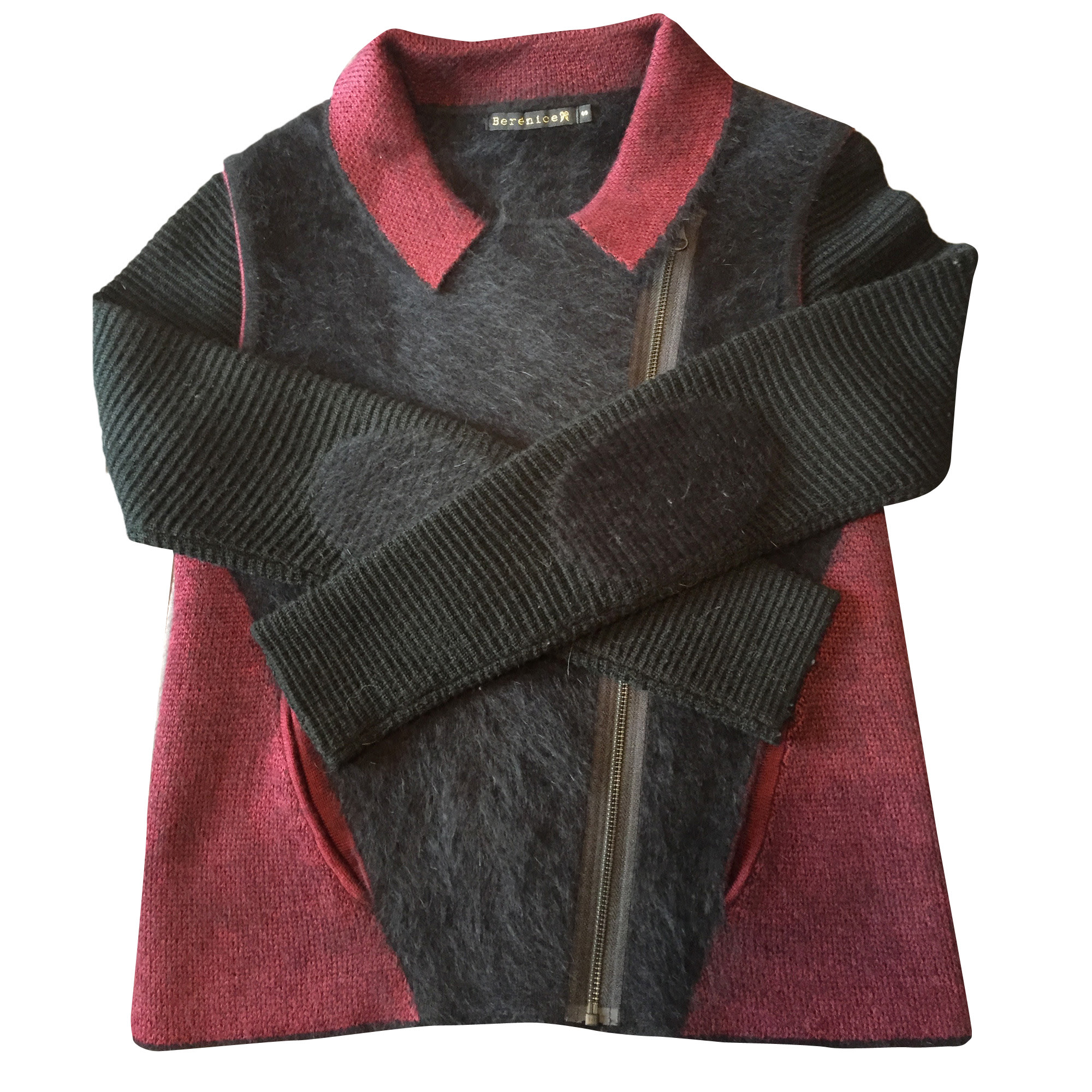 Gilet, cardigan BERENICE Rouge, bordeaux