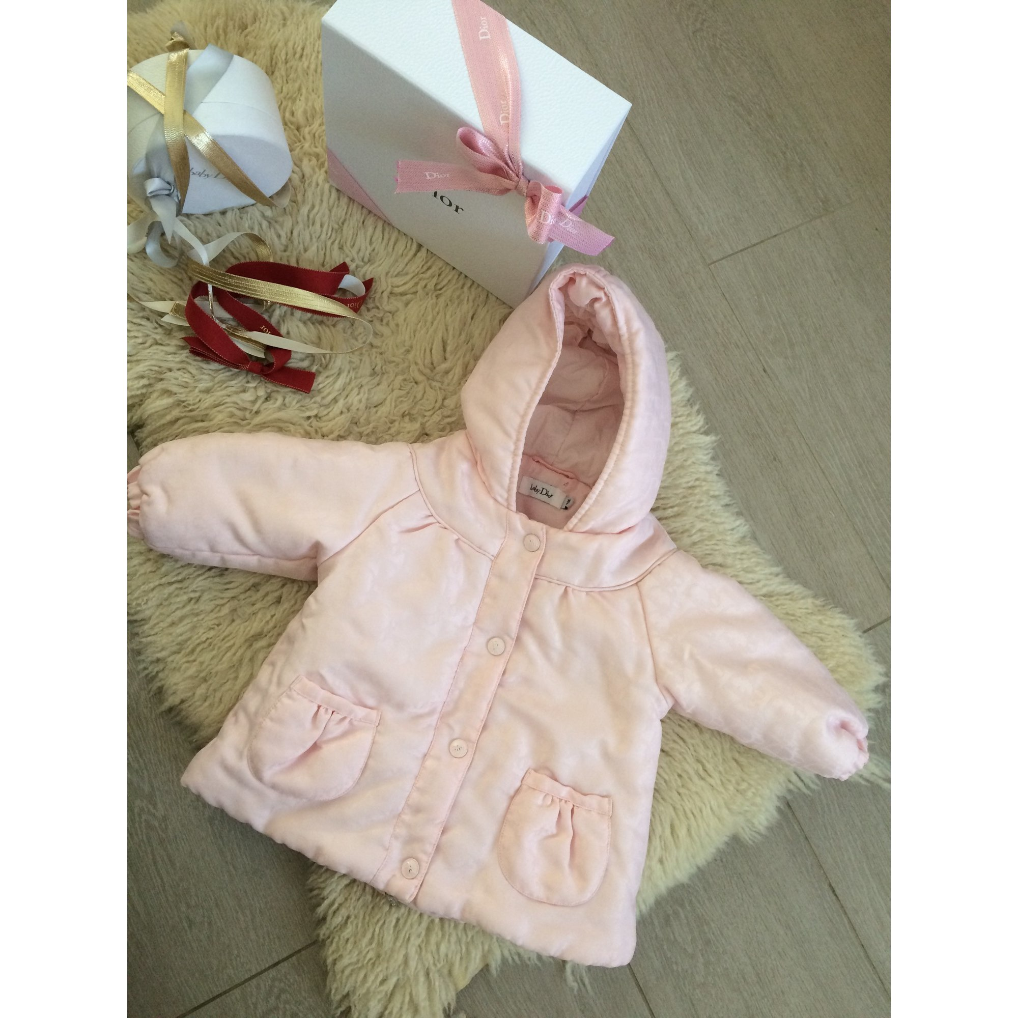 Down Jacket BABY DIOR Pink, fuchsia, light pink