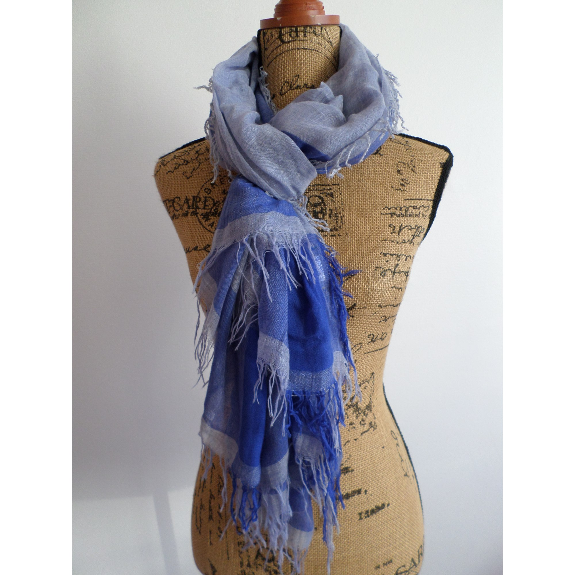 Foulard MONOPRIX Bleu, bleu marine, bleu turquoise