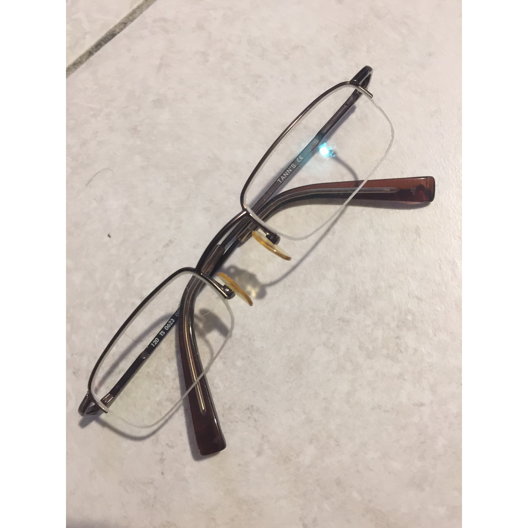 Montatura occhiali TANN'S Dorato, bronzo, rame