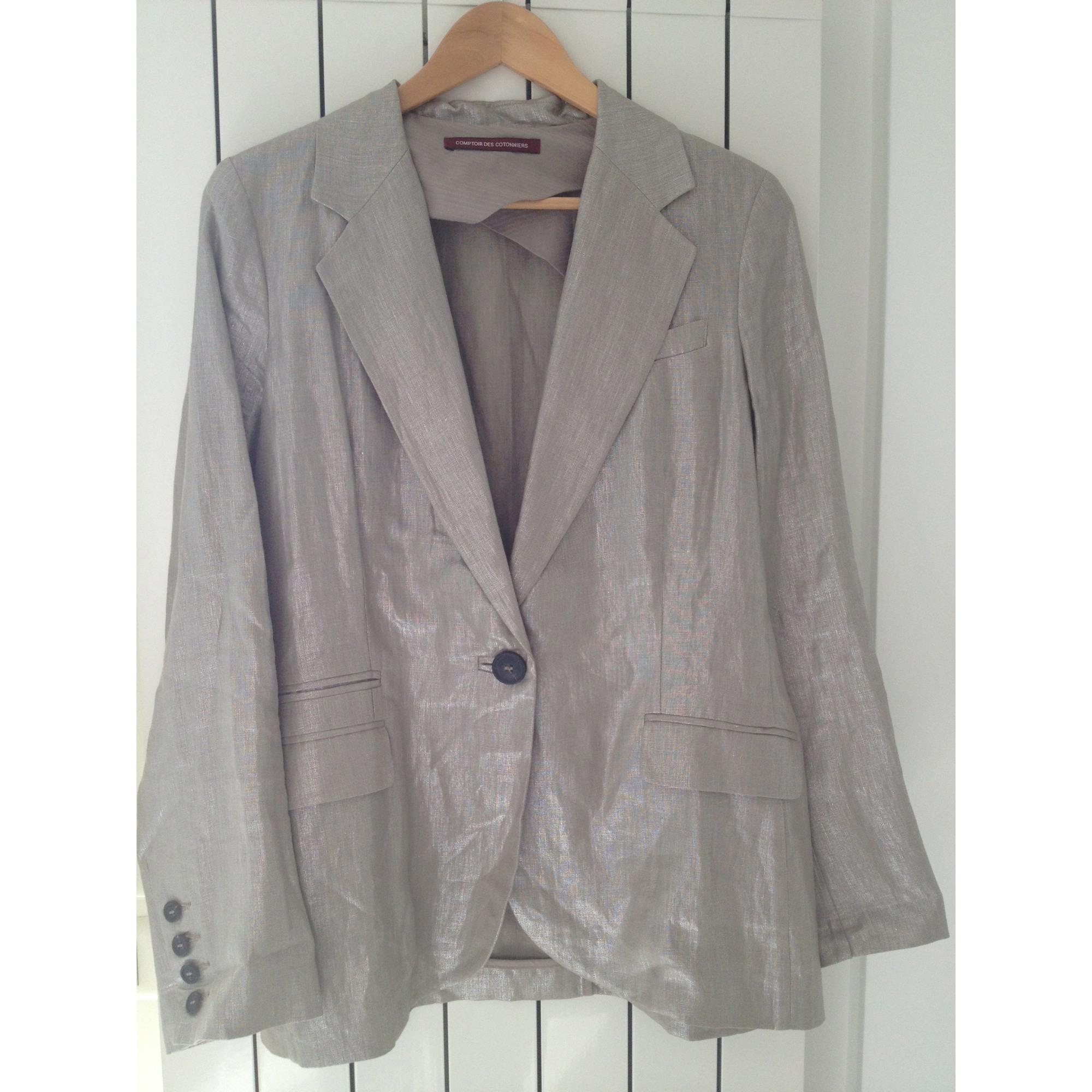 Blazer, veste tailleur COMPTOIR DES COTONNIERS Doré, bronze, cuivre