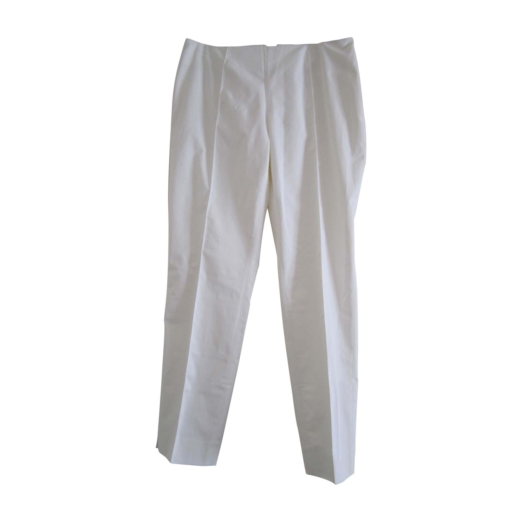 Pantalon droit EMILIO PUCCI Blanc, blanc cassé, écru