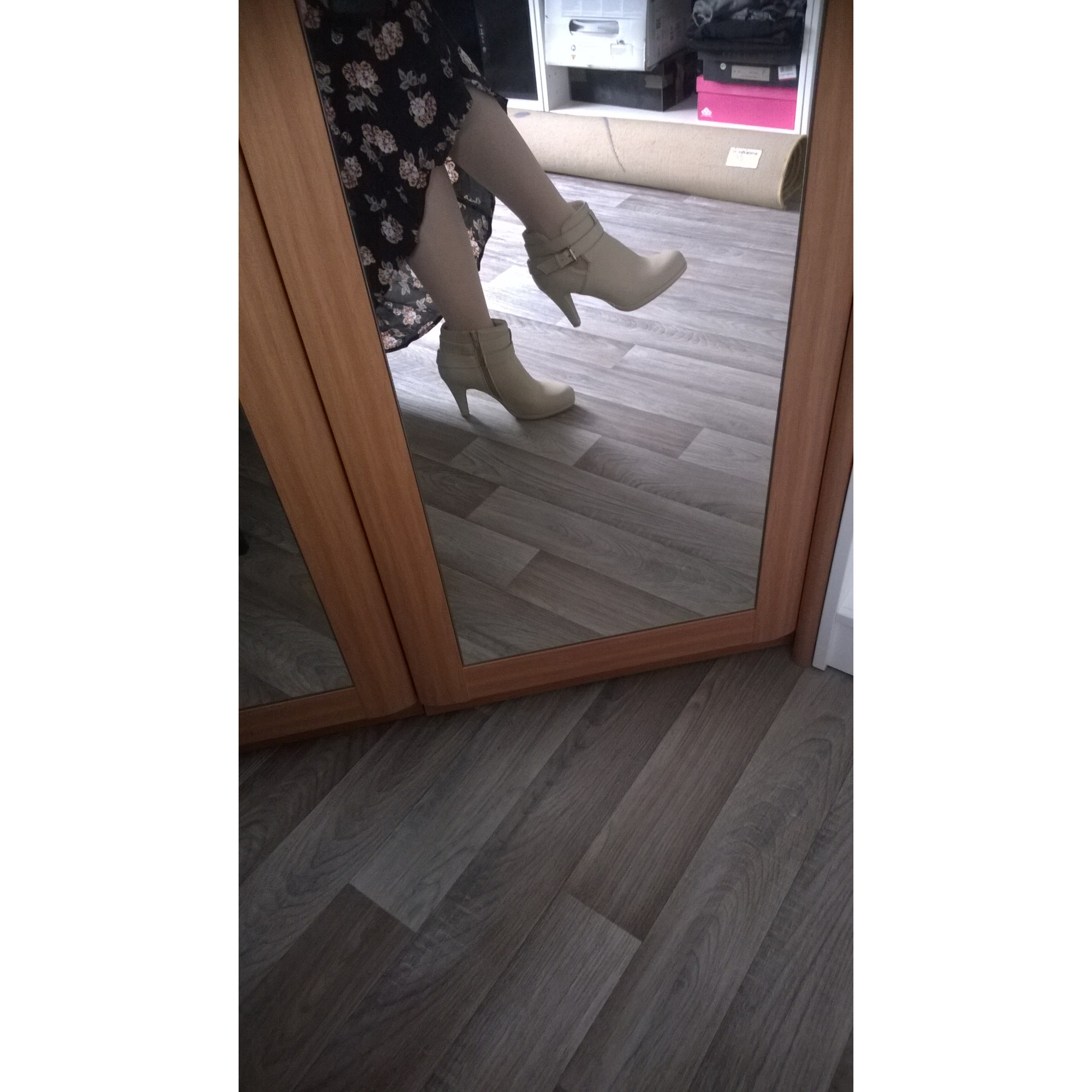 Bottines & low boots à talons ANNA FIELD Blanc, blanc cassé, écru