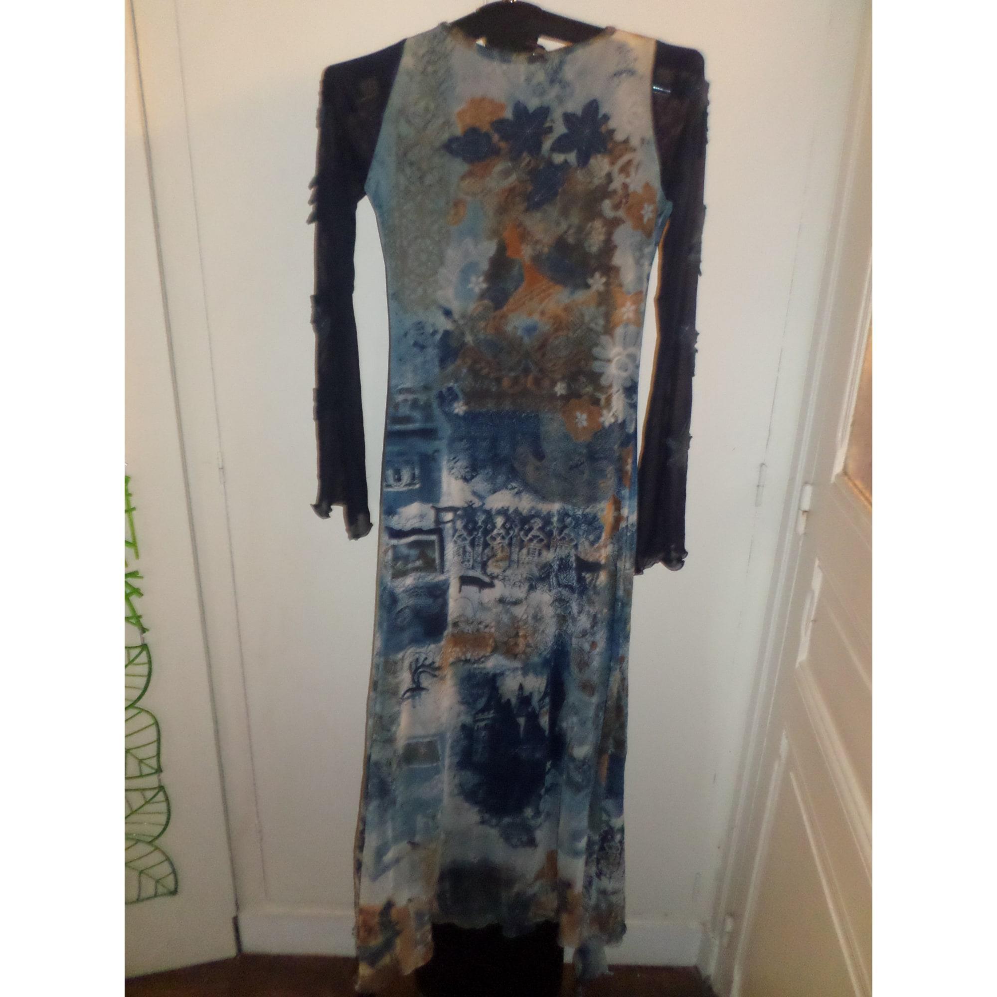 Robe longue SAVE THE QUEEN Bleu, bleu marine, bleu turquoise