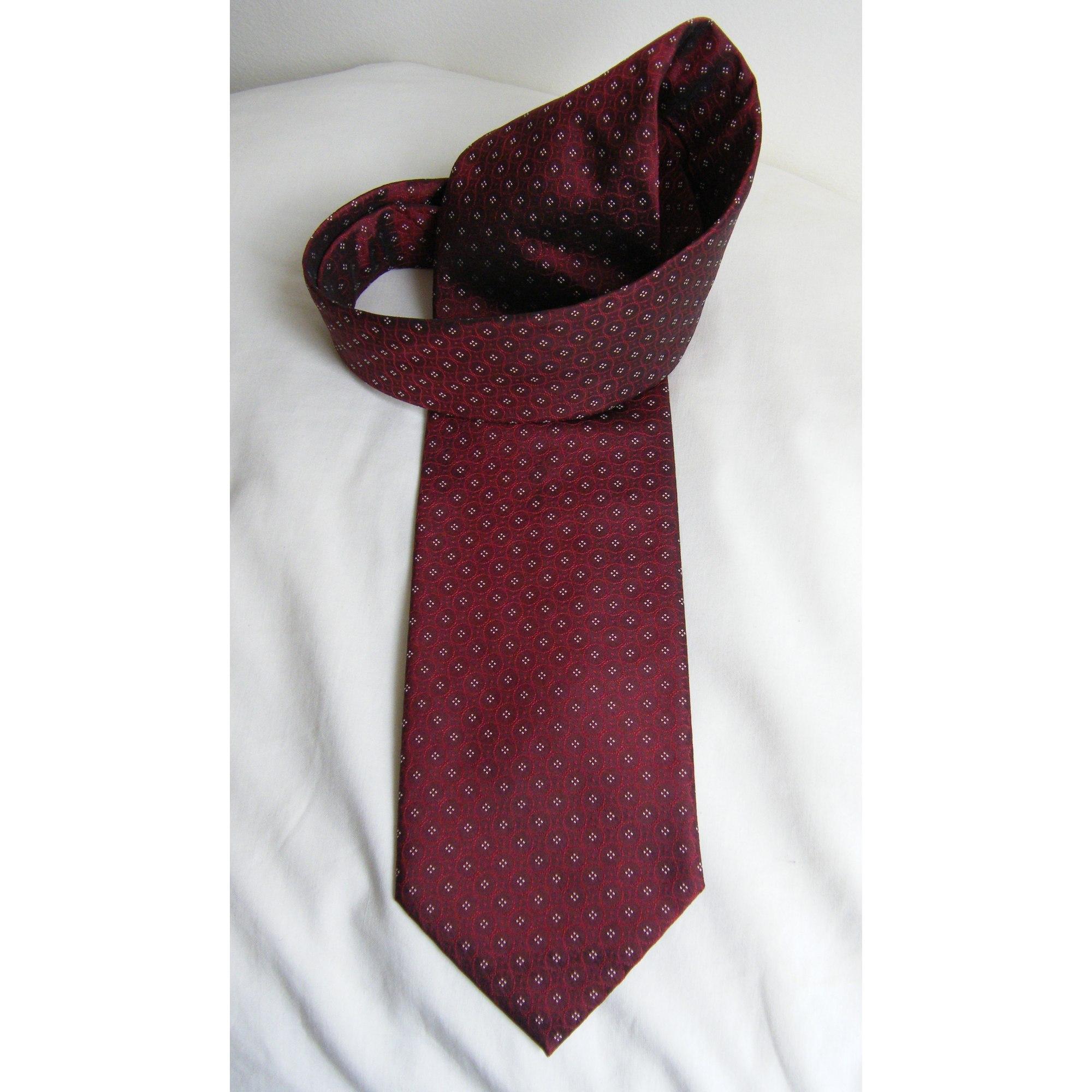 Tie BALTHAZAR Red, burgundy