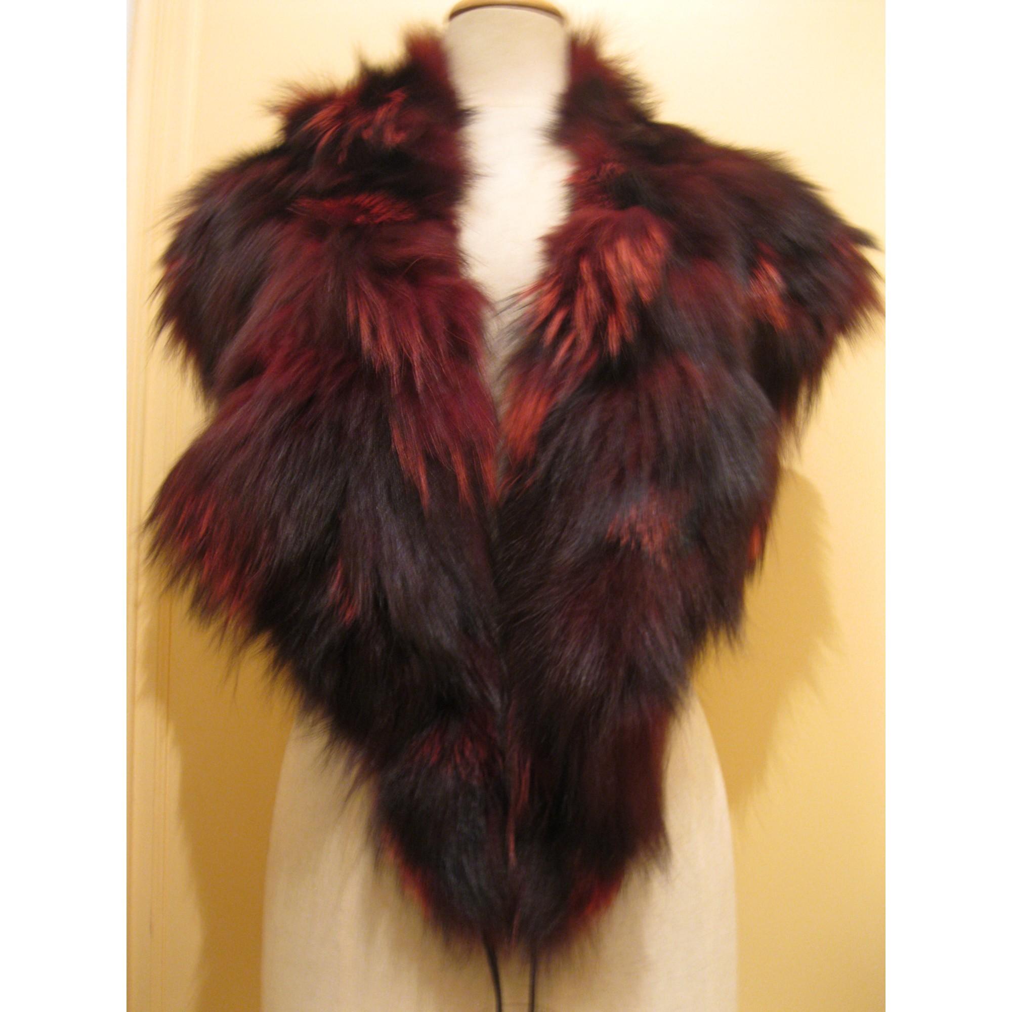 Manteau en fourrure ARTISAN FOURREUR Rouge, bordeaux