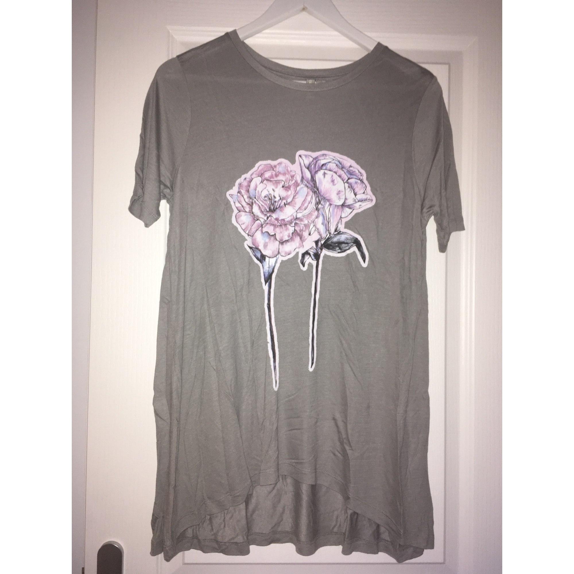 Top, tee-shirt ASOS Gris, anthracite