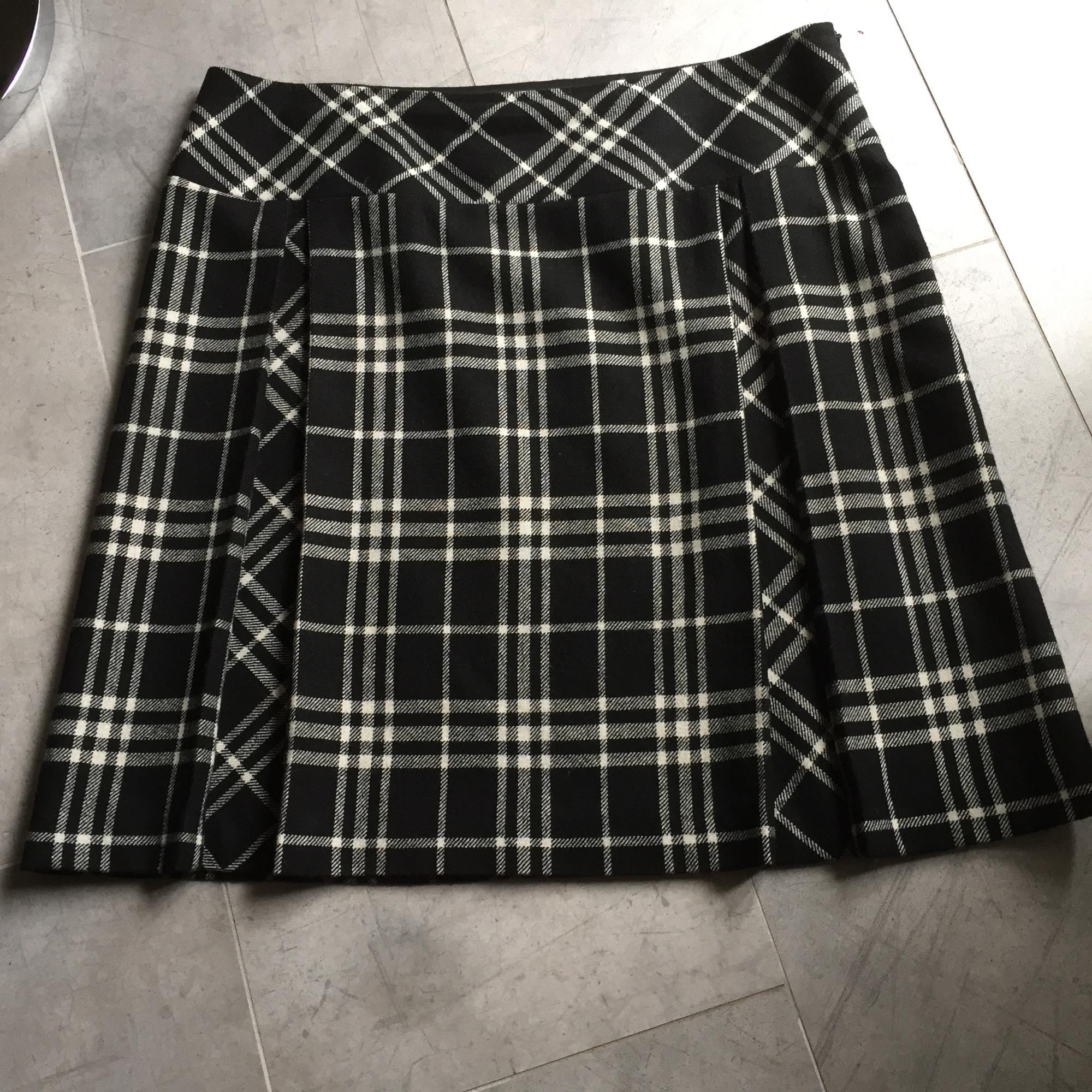Jupe courte ALAIN MANOUKIAN Carreaux noir et blanc