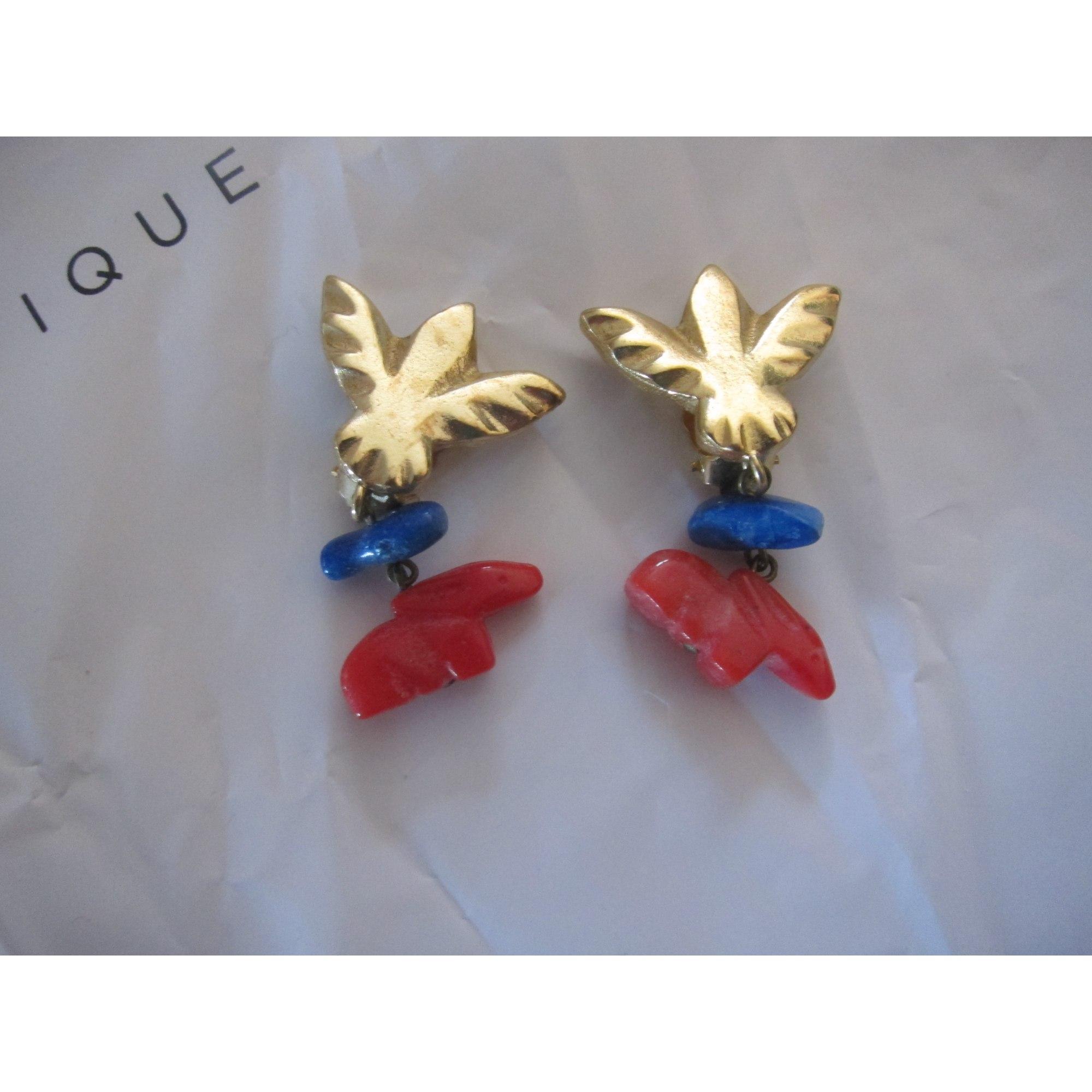 Boucles d'oreille POGGI Doré, bronze, cuivre