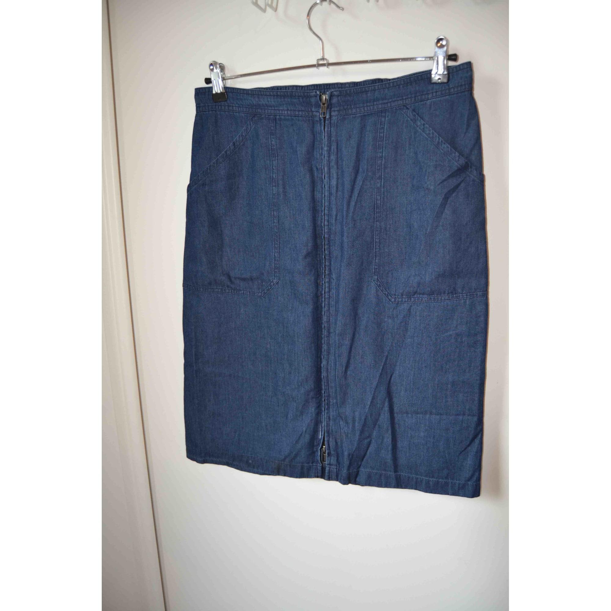 Jupe mi-longue AGNÈS B. Bleu, bleu marine, bleu turquoise