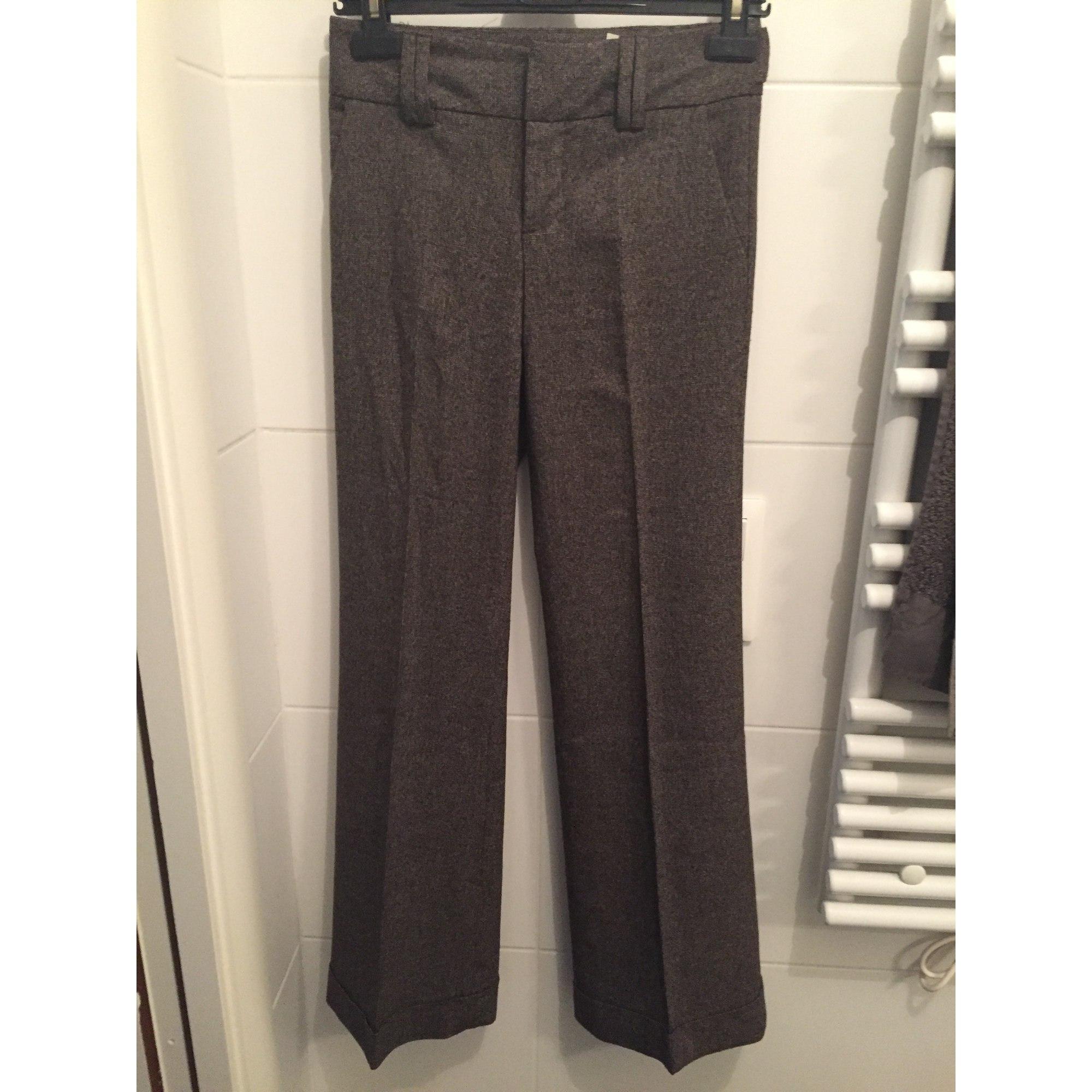 Pantalon évasé ZARA Marron