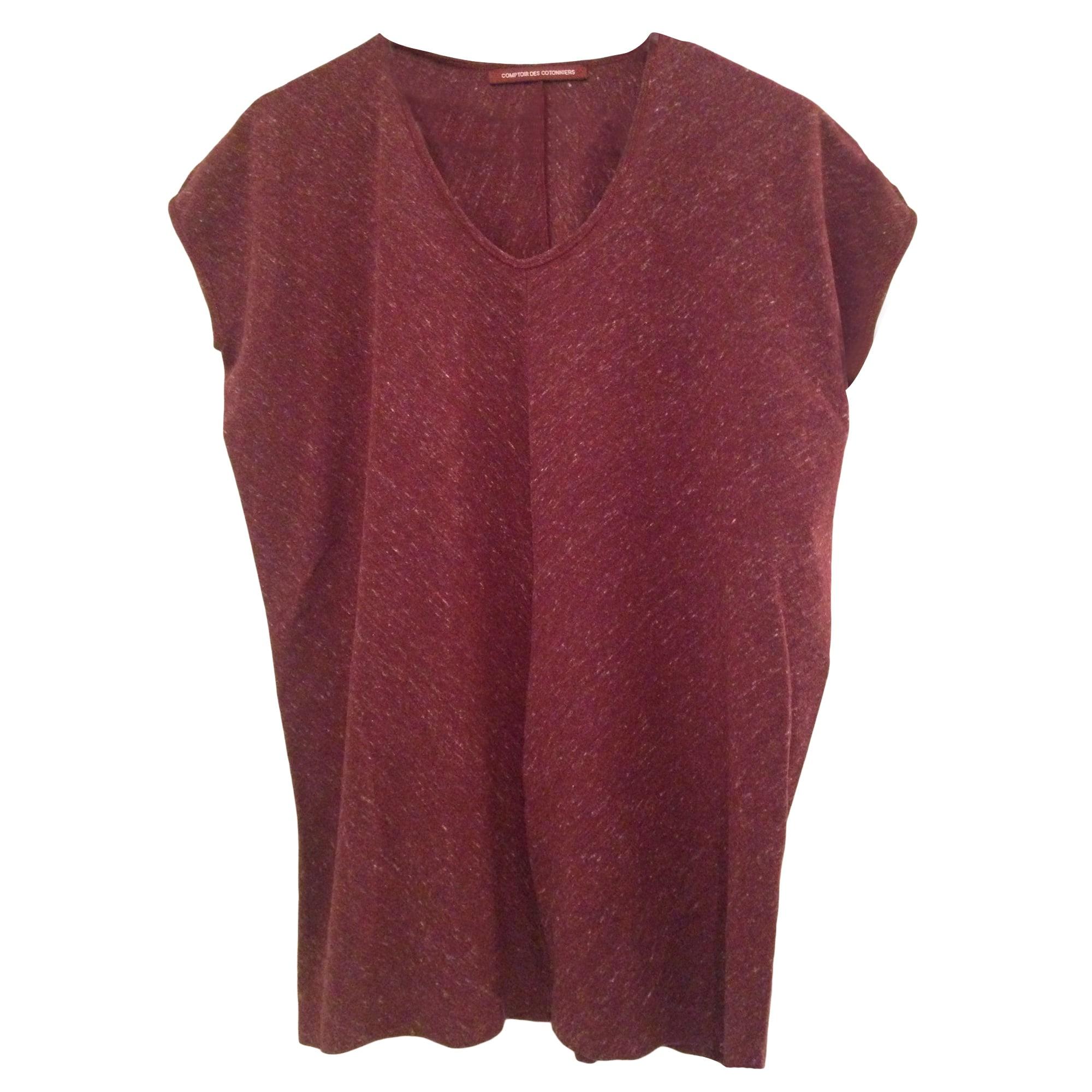 Top, tee-shirt COMPTOIR DES COTONNIERS Rouge, bordeaux