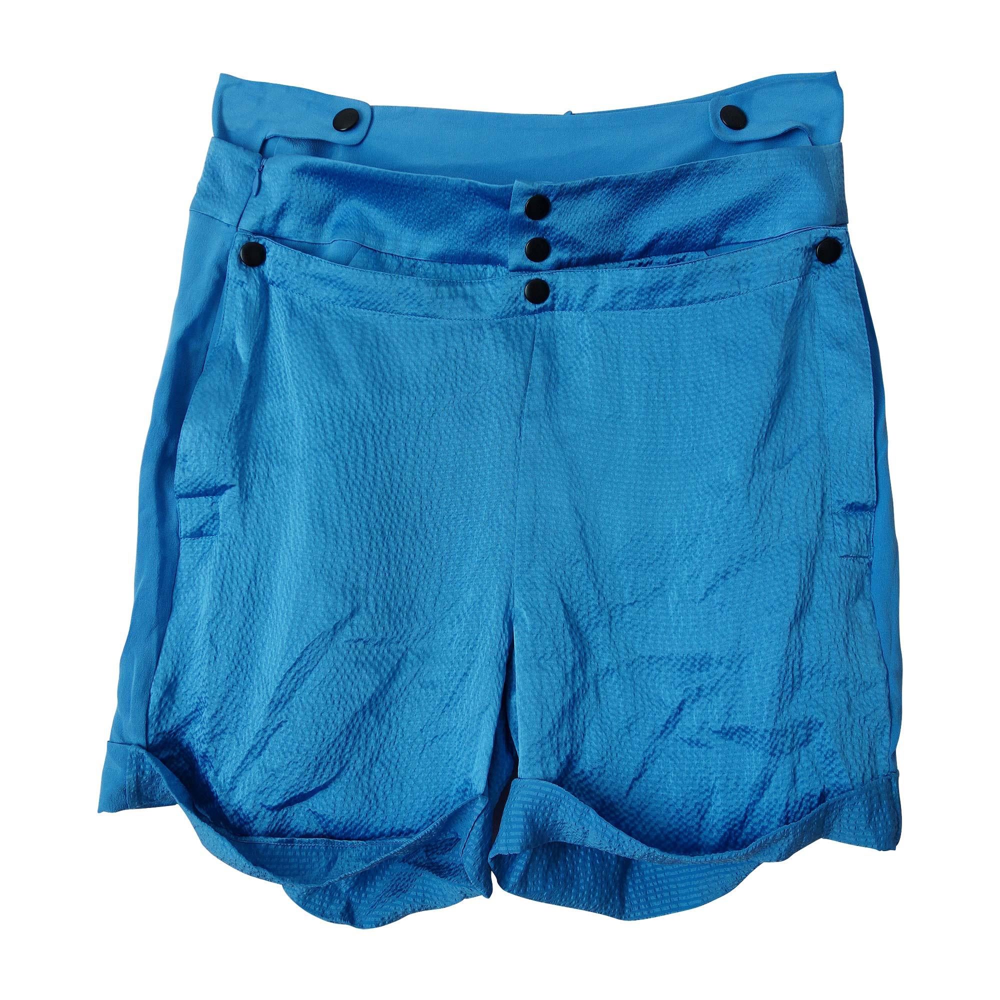 Short BALENCIAGA Bleu, bleu marine, bleu turquoise