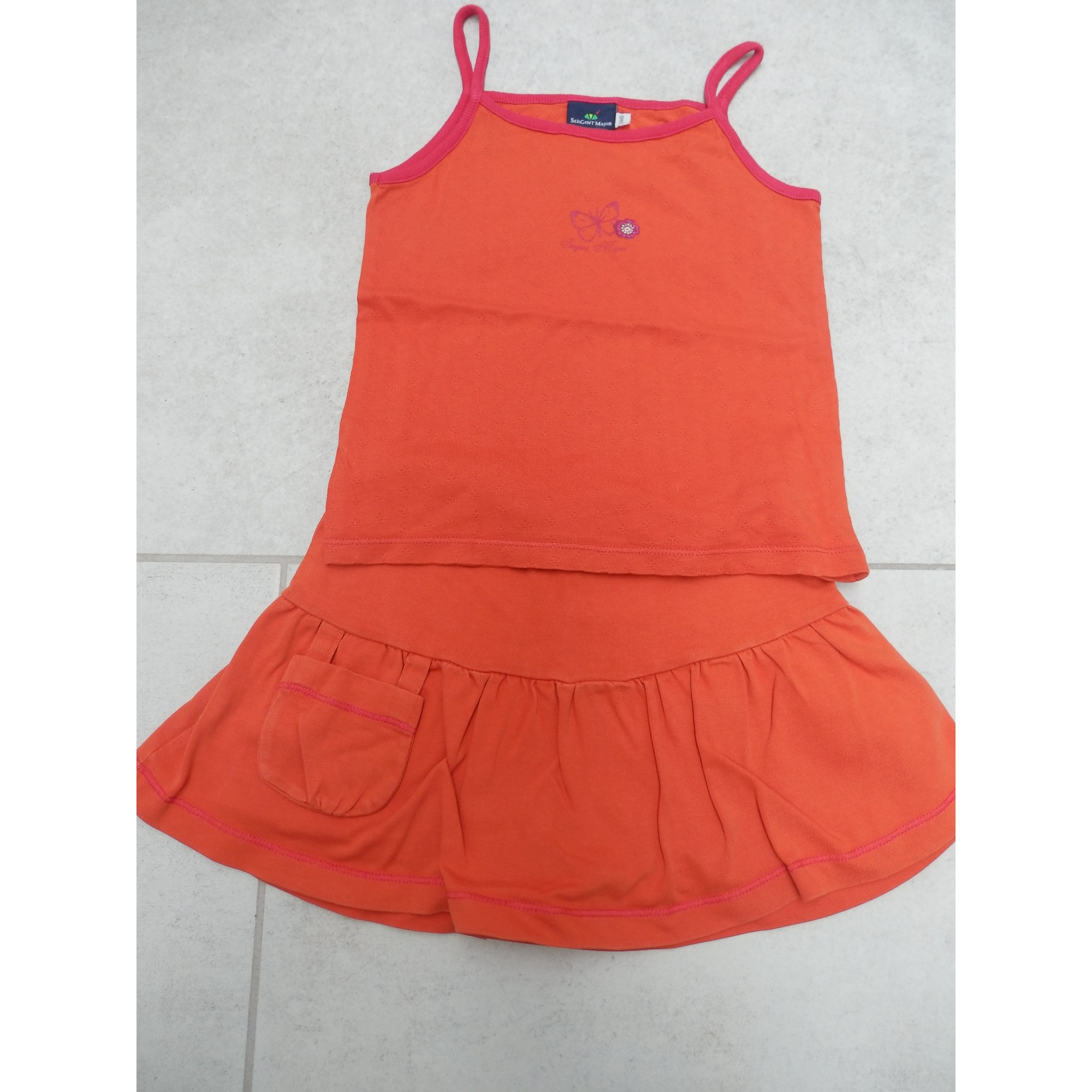 Ensemble & Combinaison short SERGENT MAJOR Orange