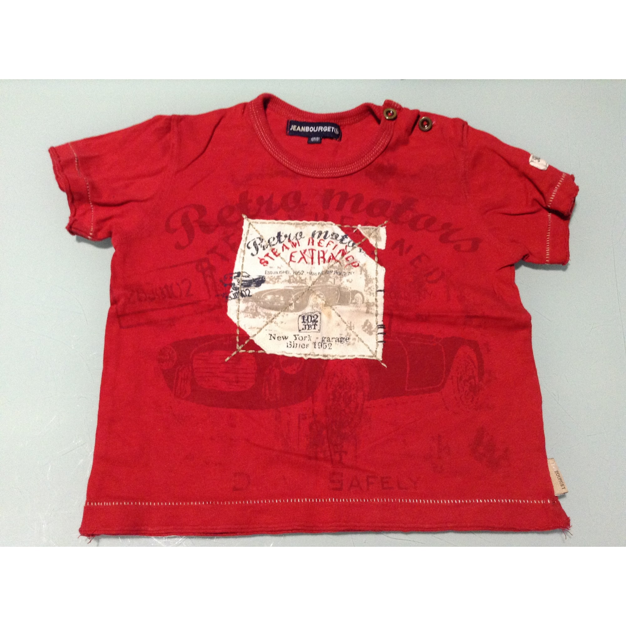 Top, tee shirt JEAN BOURGET Rouge, bordeaux