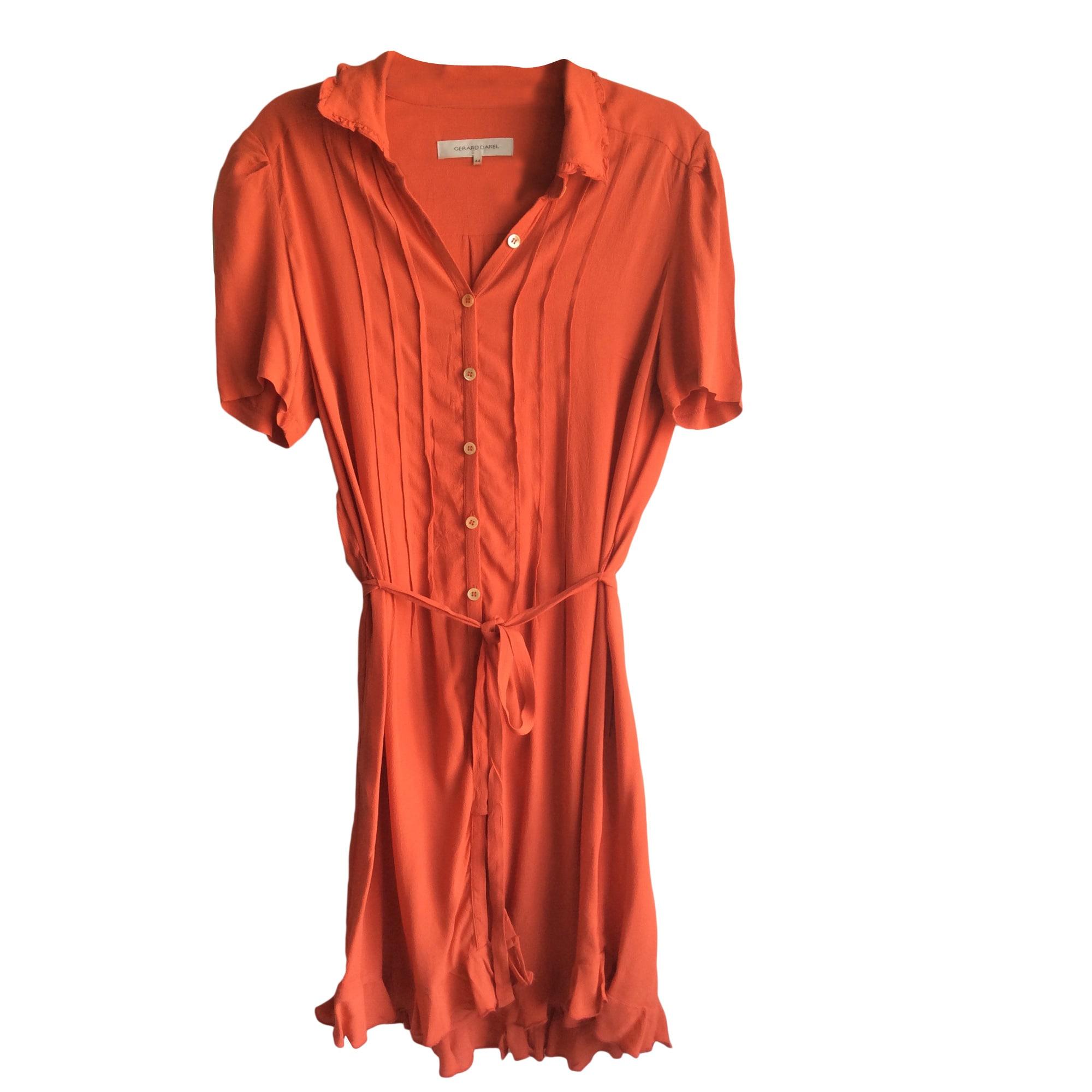 Robe mi-longue GERARD DAREL Orange