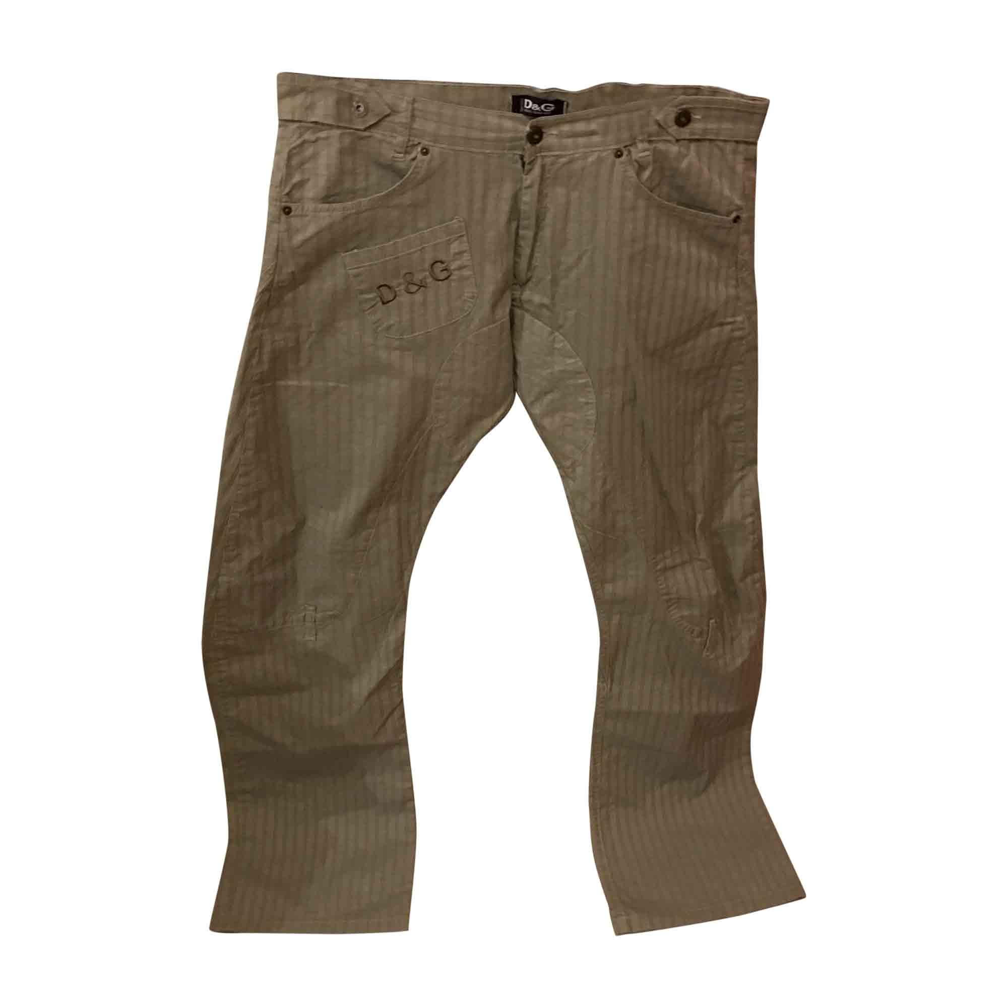 Pantalon large DOLCE & GABBANA Vert