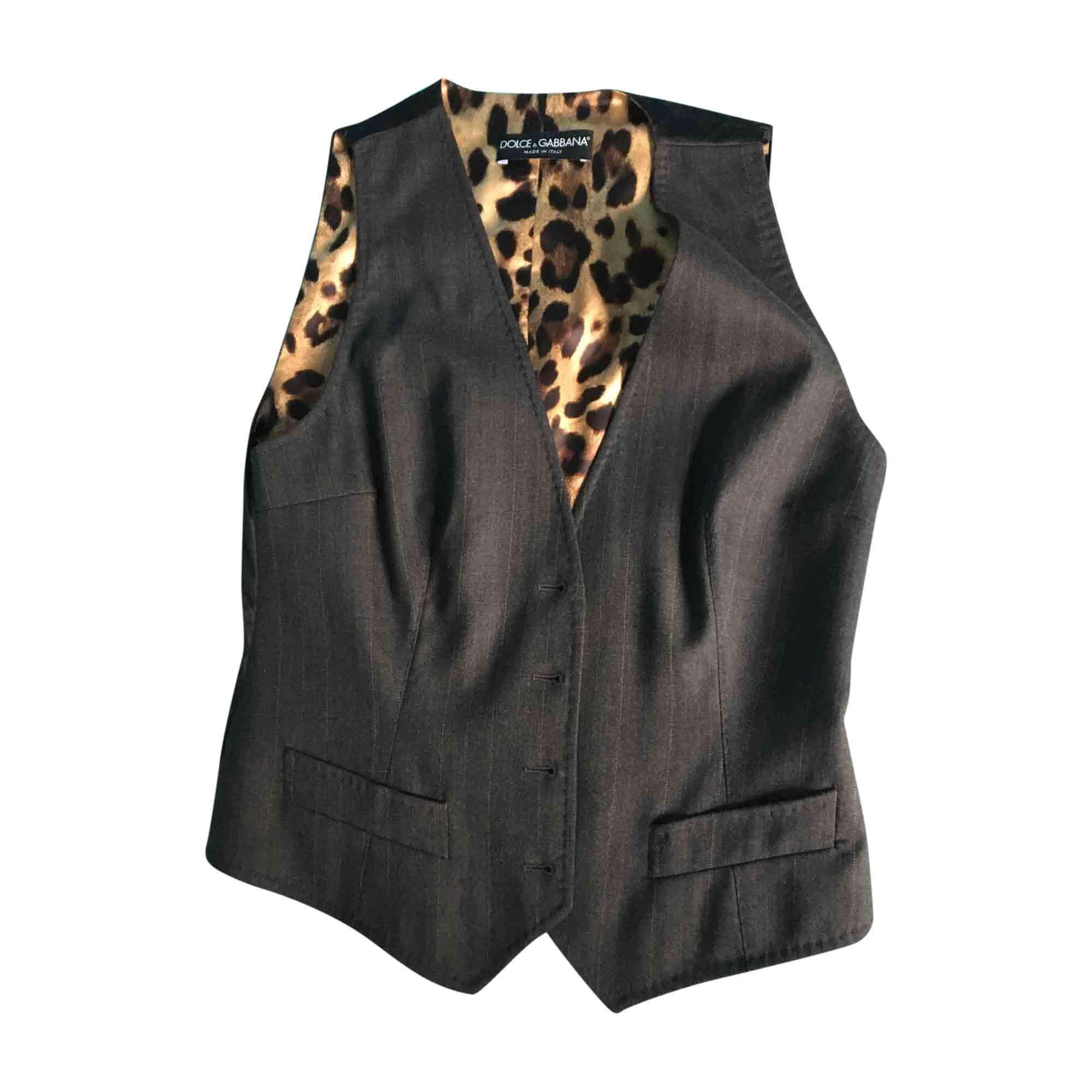 Tailleur pantalon DOLCE & GABBANA Gris, anthracite