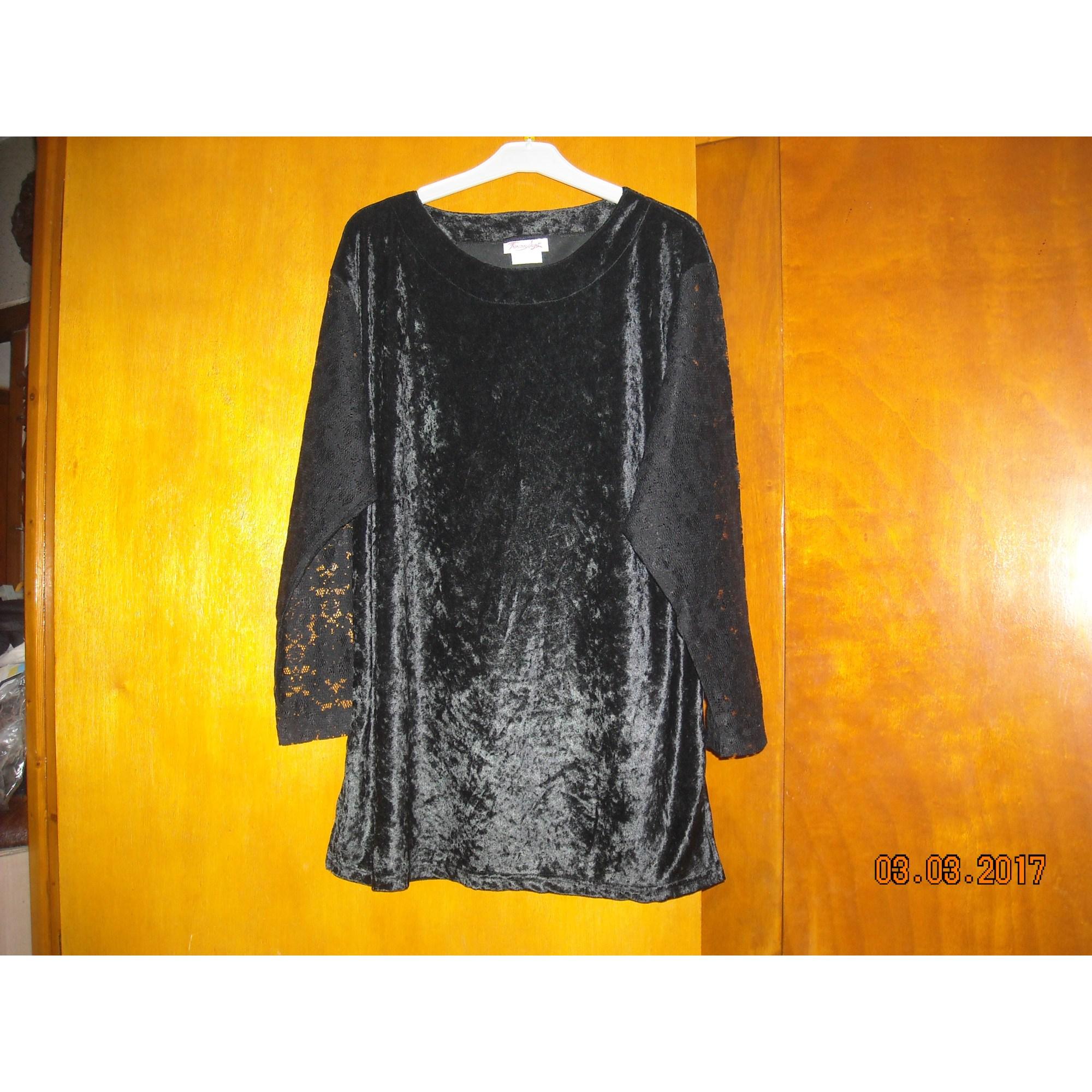 Top, tee-shirt FRANÇOISE SAGET Noir