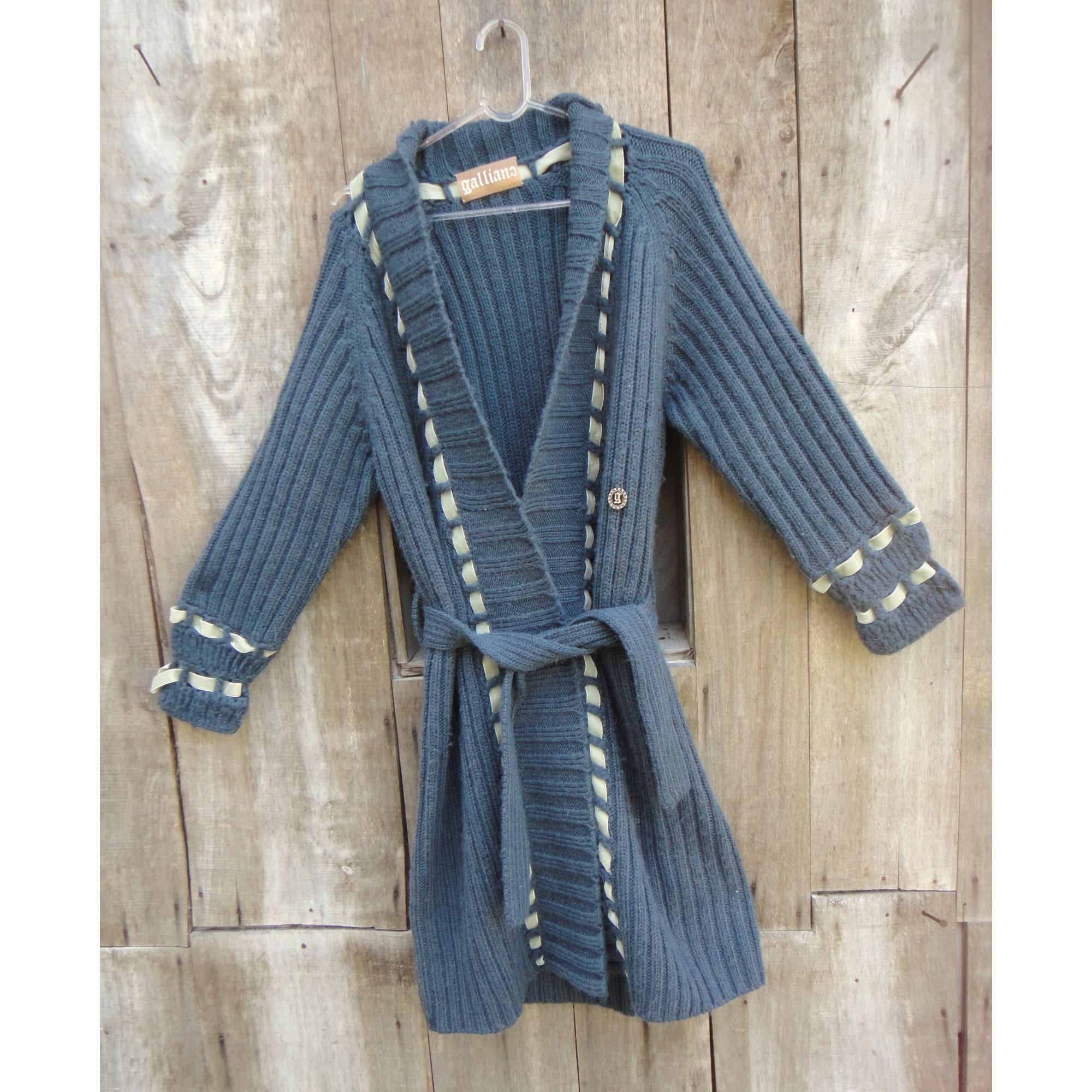 Gilet, cardigan GALLIANO Bleu, bleu marine, bleu turquoise